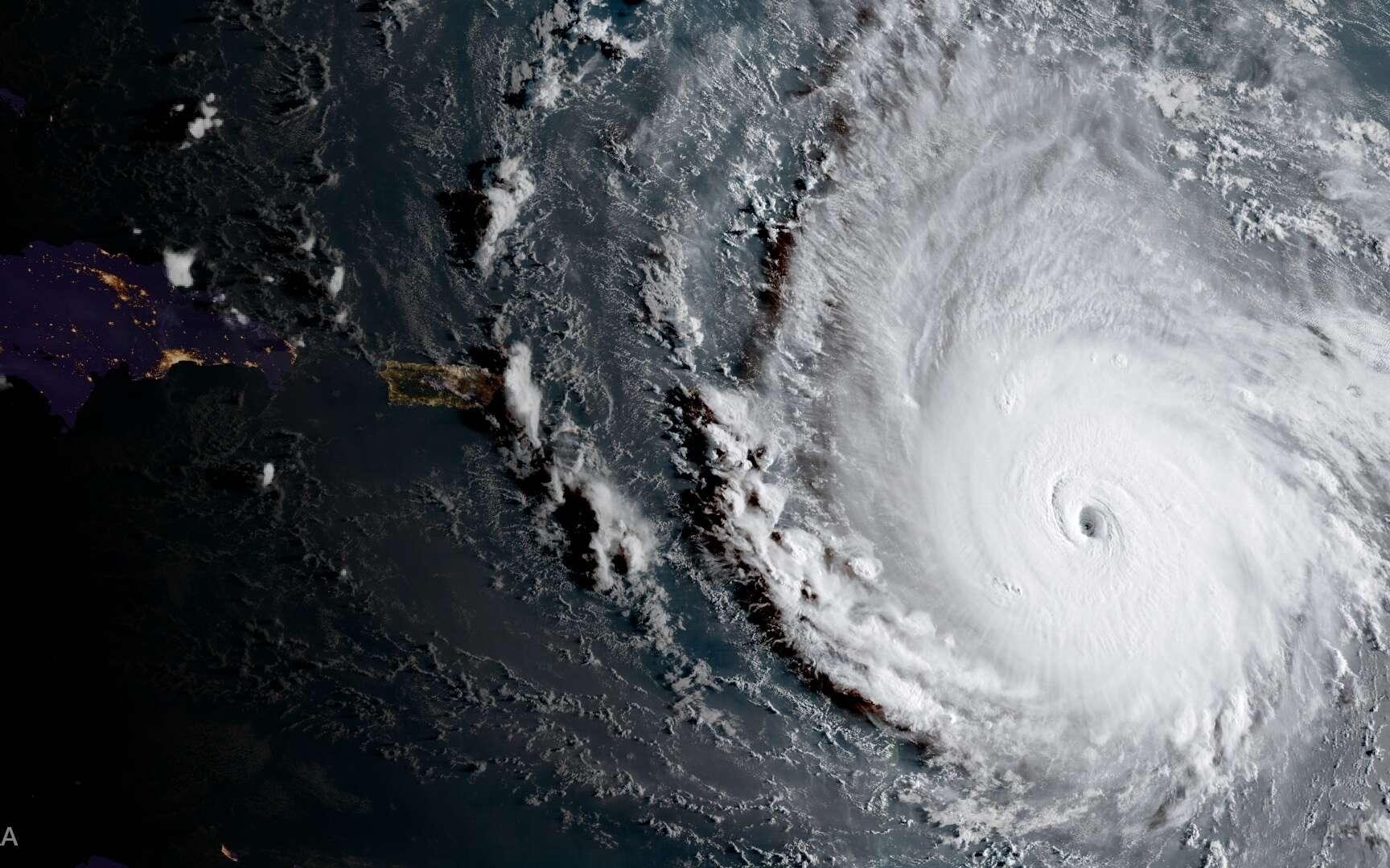 L'ouragan Irma, l'un des plus puissant jamais observé au-dessus de l'Atlantique, le 5 septembre 2017. © NOAA