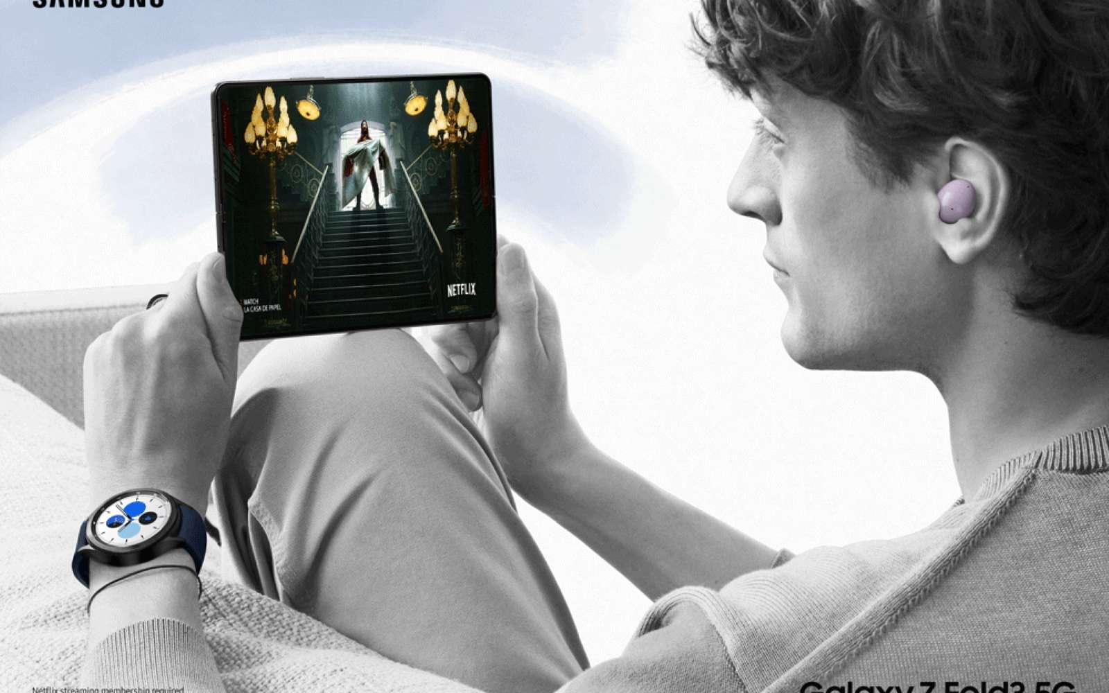 Avec ses deux nouveaux modèles, Samsung a trouvé la combinaison parfaite pour lancer la révolution des smartphones pliants. © Samsung