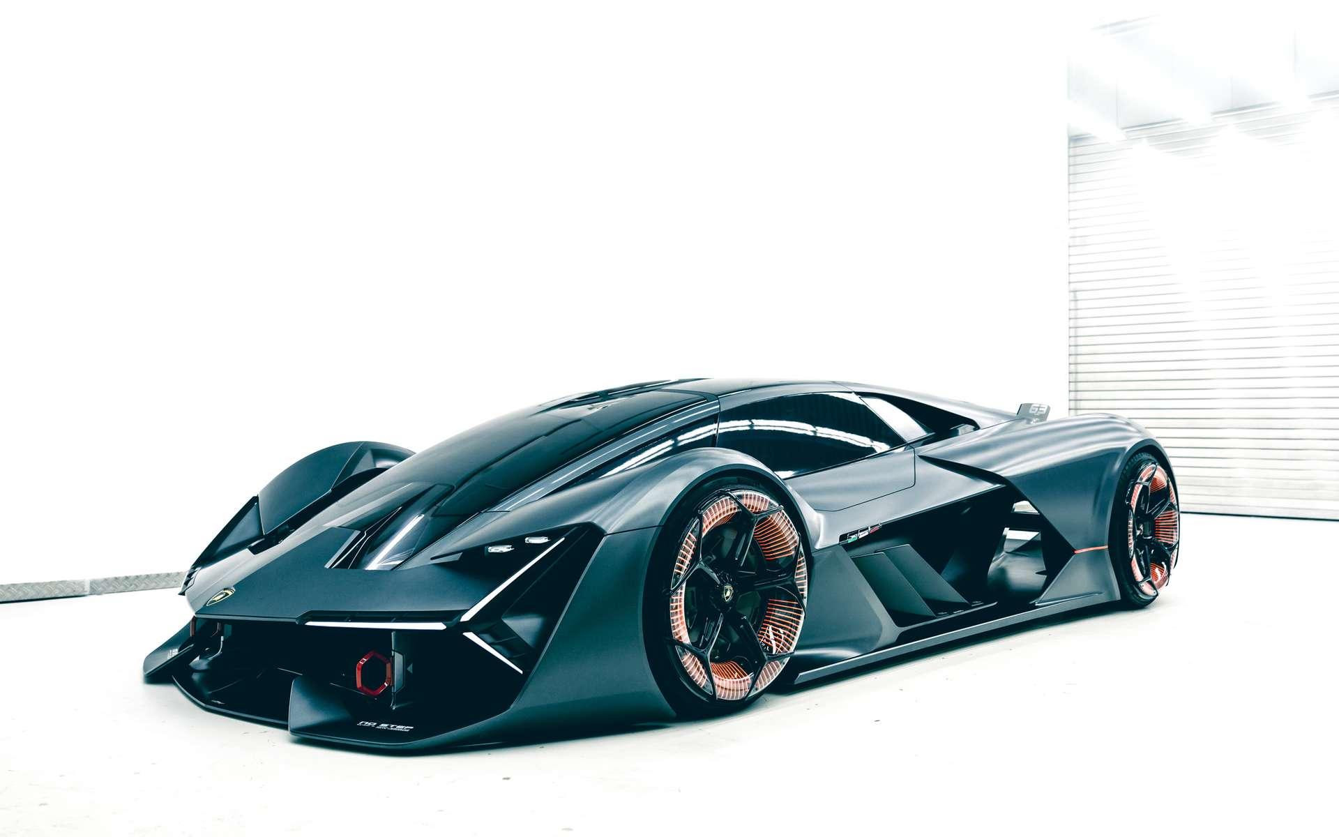 La Lamborghini Terzo Millennio est un concept pour montrer quelques-unes des orientations technologiques futures de la marque italienne. © Lamborghini