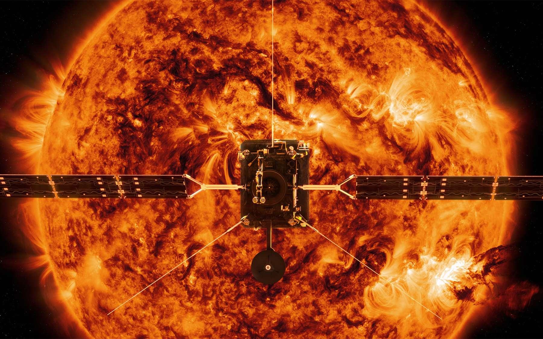 La sonde Solar Orbiter de l'Agence spatiale européenne à laquelle la Nasa participe en fournissant deux instruments et le lanceur. © ESA, Nasa