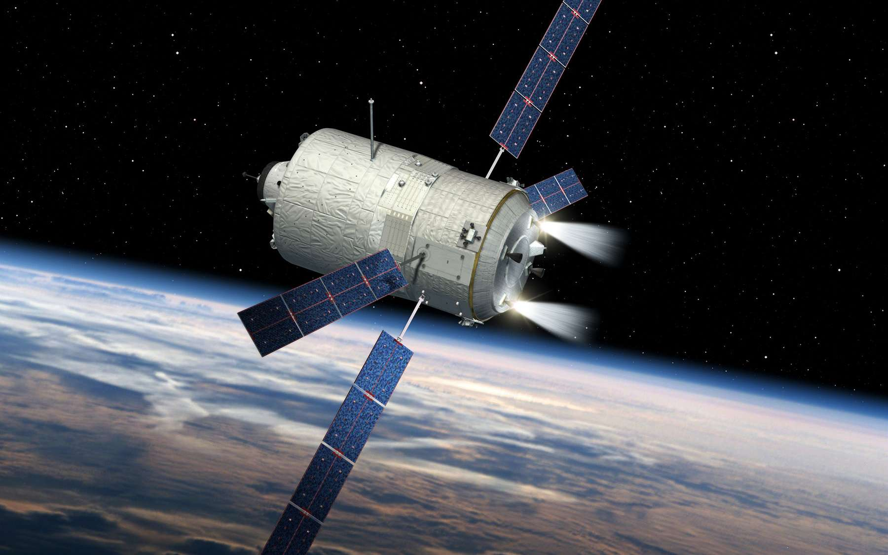 L'ATV-5 va permettre de mieux comprendre comment les objets se désintègrent dans l'atmosphère terrestre. © Esa, D. Ducros