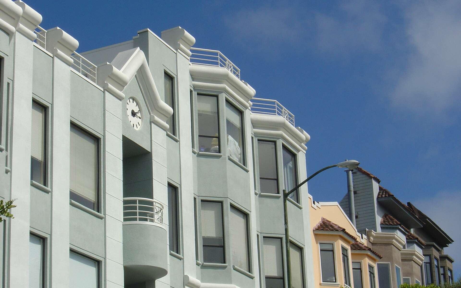 Le bow-window est fréquemment utilisé aux États-Unis comme ici, à San Francisco. © Infratec, CC BY-SA 3.0, Wikimedia Commons