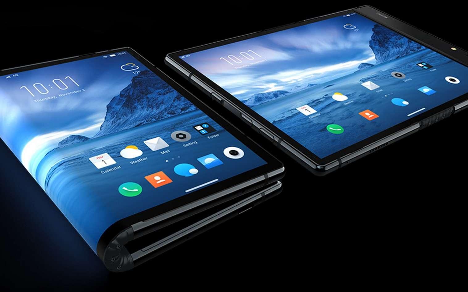 L'écran pliable pourrait bien se retrouver sur plusieurs mobiles de l'année 2019. © Royole
