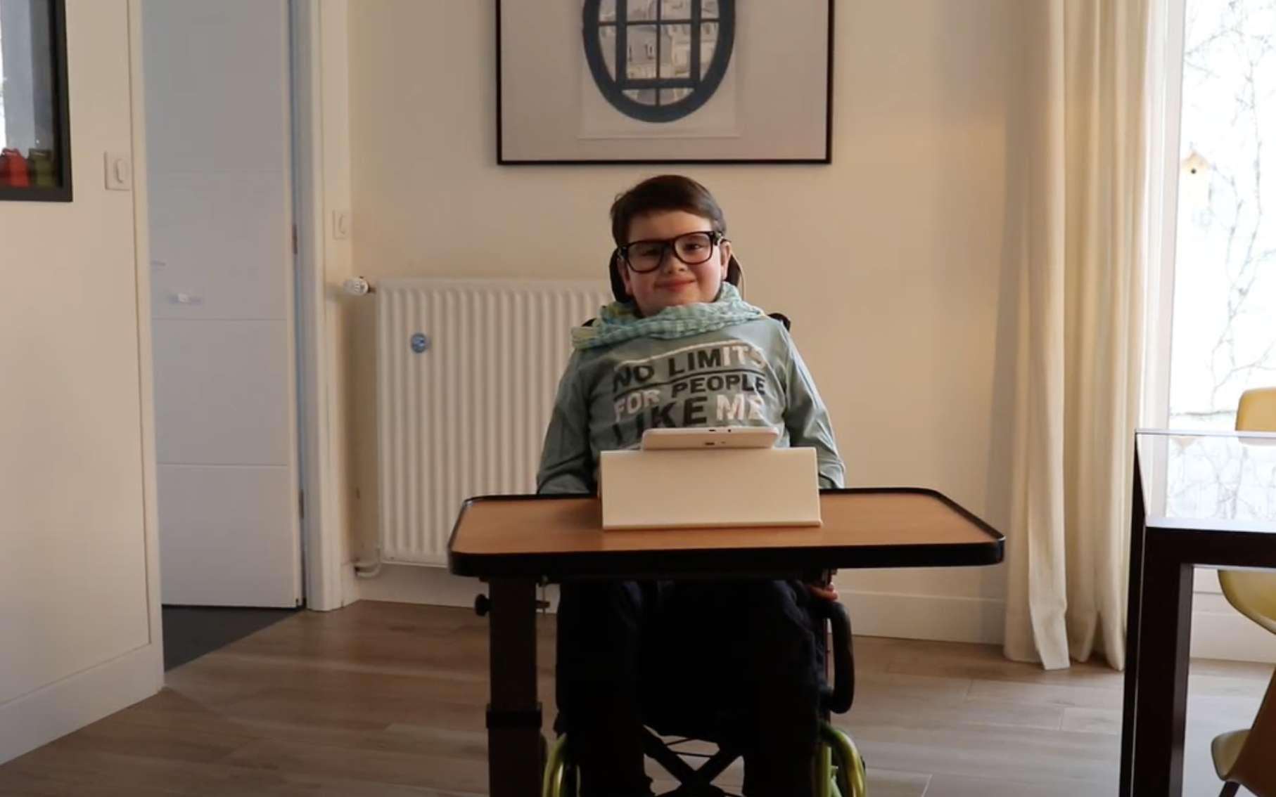 Wyes a créé un dispositif de communication destiné aux personnes en situation de handicap. © Wyes