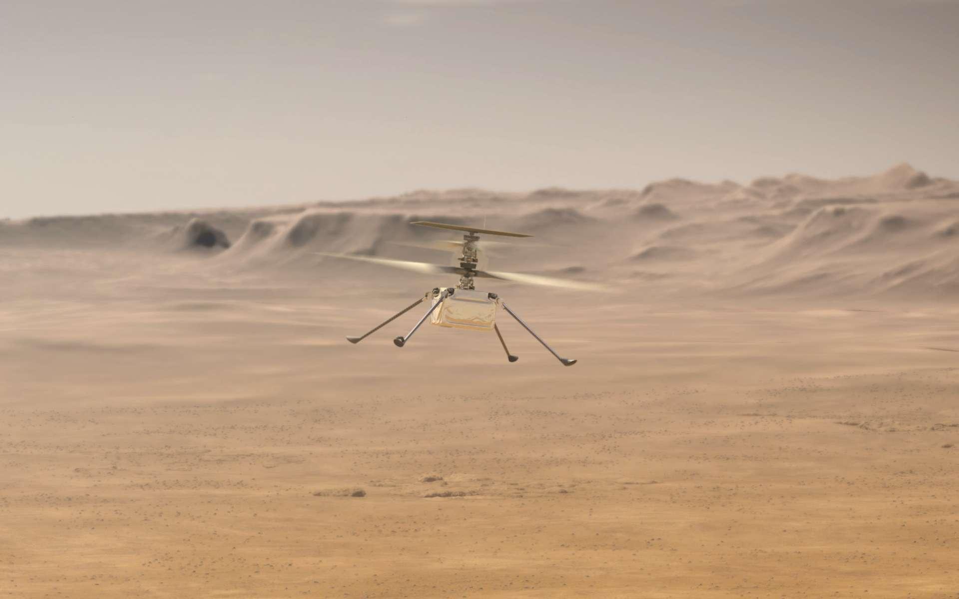 Un nouveau vol plus complexe que les autres réussi avec succès pour Ingenuity. Le dixième au-dessus de la surface de Mars pour l'hélicoptère de la Nasa qui a désormais parcouru au total la distance symbolique de plus d'un mile, soit environ 1,605 kilomètres. © Nasa, JPL Caltech