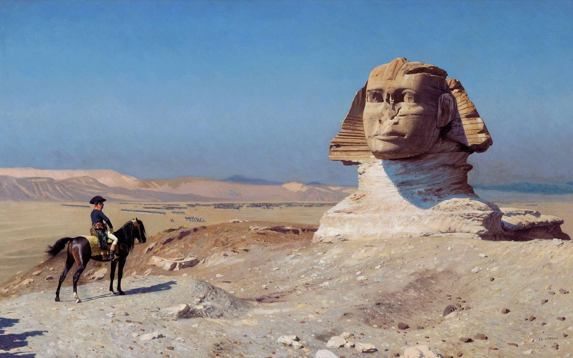 Le général Bonaparte devant le Sphinx, par Jean Léon Gérôme en 1886 ; collection Hearst Castle, Californie, USA. © Wikimedia Commons, domaine public.