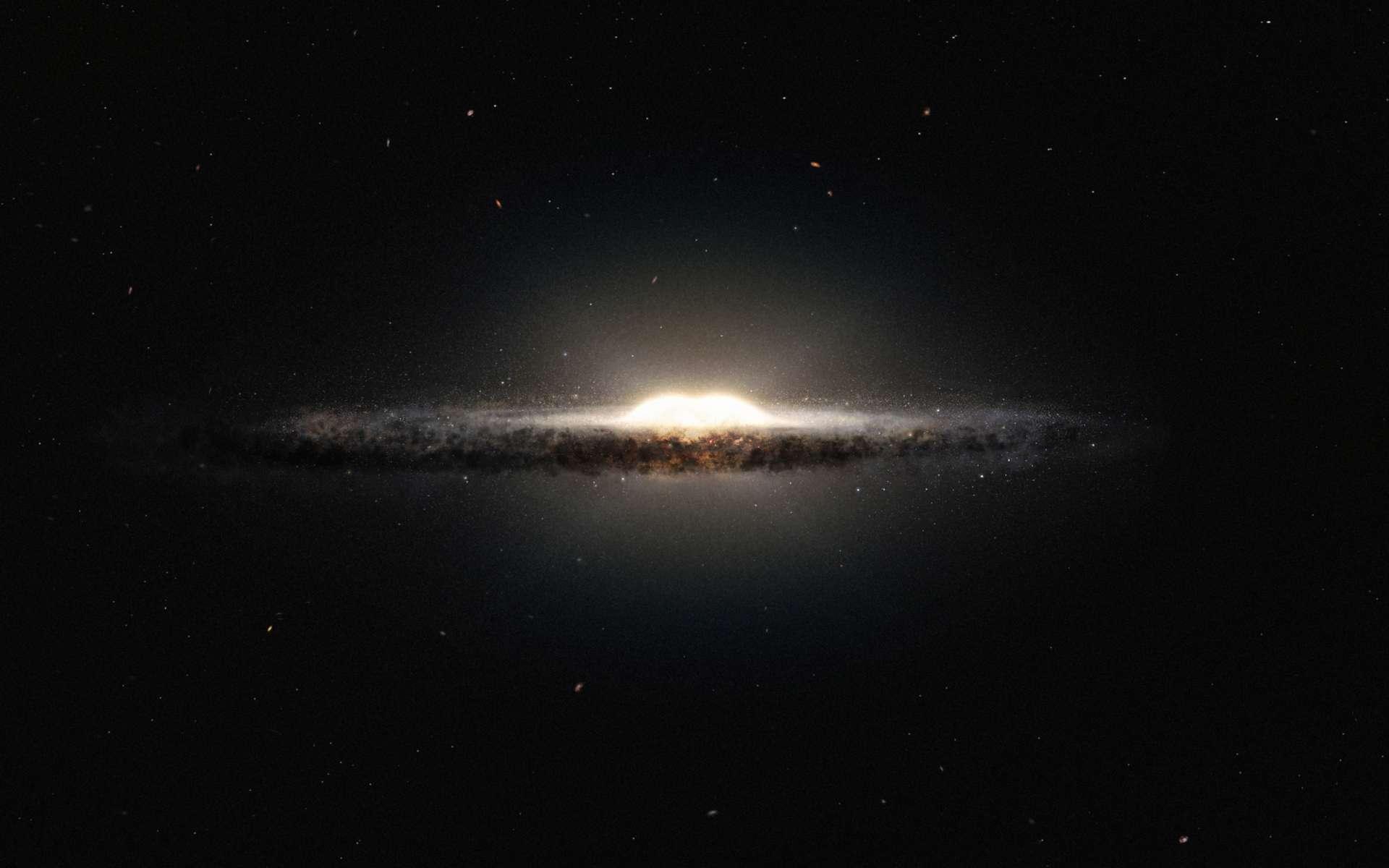 Après avoir étudié des tremblements d'étoiles grâce aux données fournies par le télescope spatial Kepler, des astronomes estiment l'âge de notre Voie lactée à 10 milliards d'années. © ESO