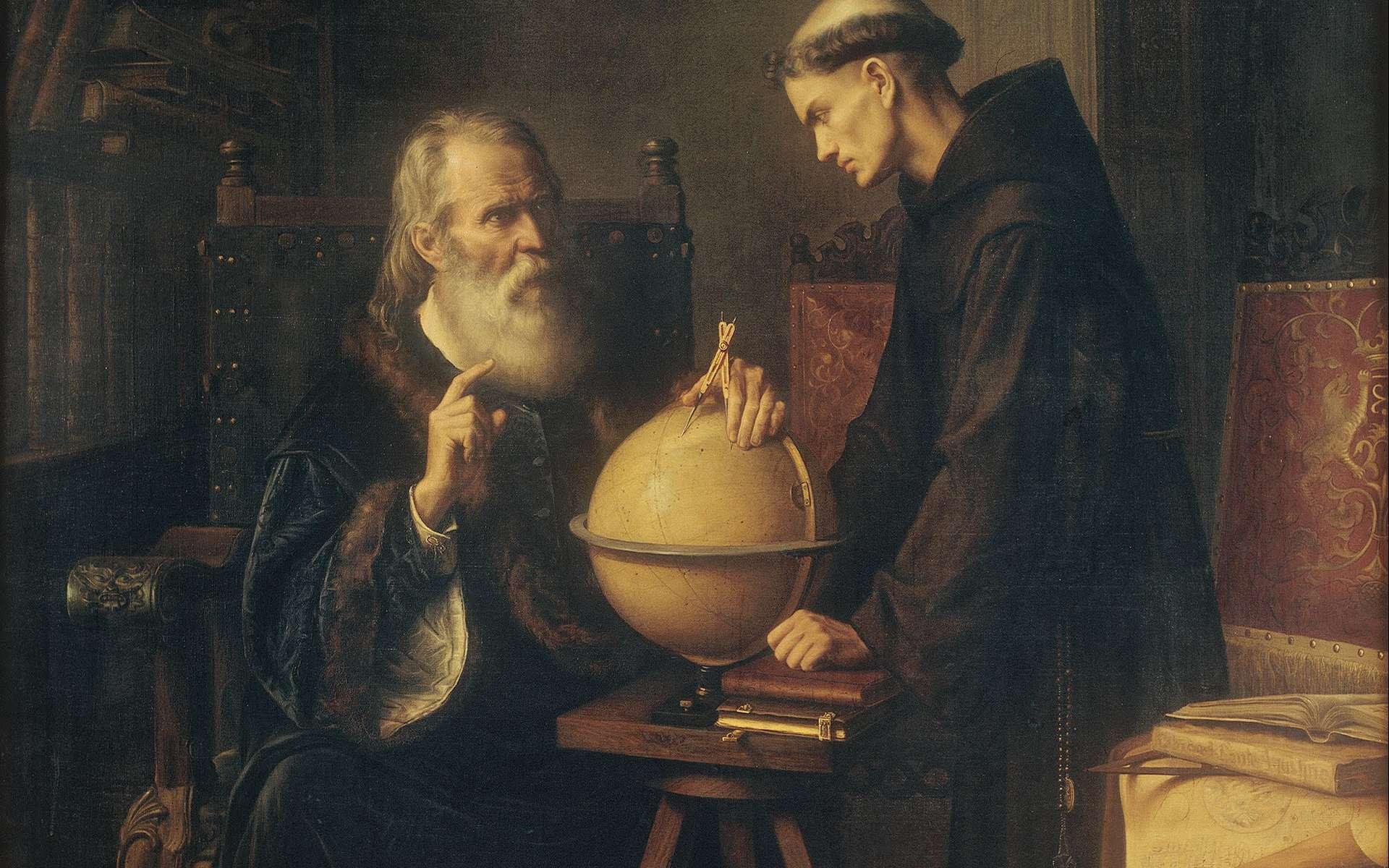 Deux versions de la lettre ayant valu la condamnation de Galilée pour hérésie circulent. Laquelle est la vraie ? © Peinture de Félix Parra, Wikipédia