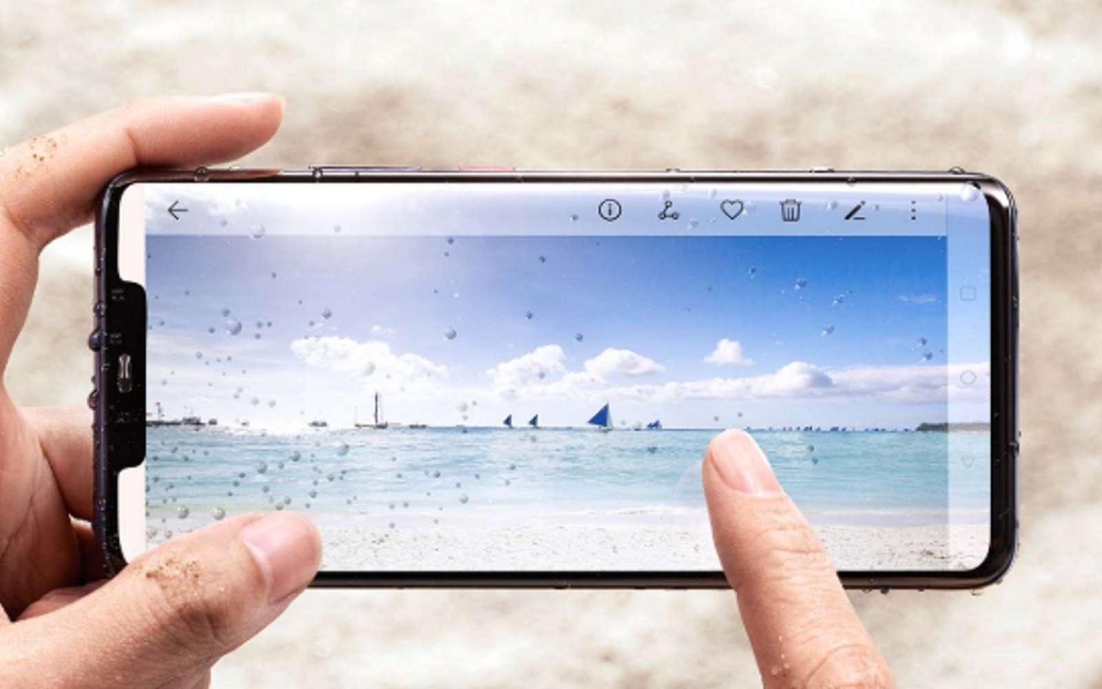 Une brute de puissance, trois capteurs photo, un système de reconnaissance faciale 3D et un capteur d'empreinte digitale dans l'écran. Le Huawei Mate 20 Pro cumule les innovations technologiques. © Huawei