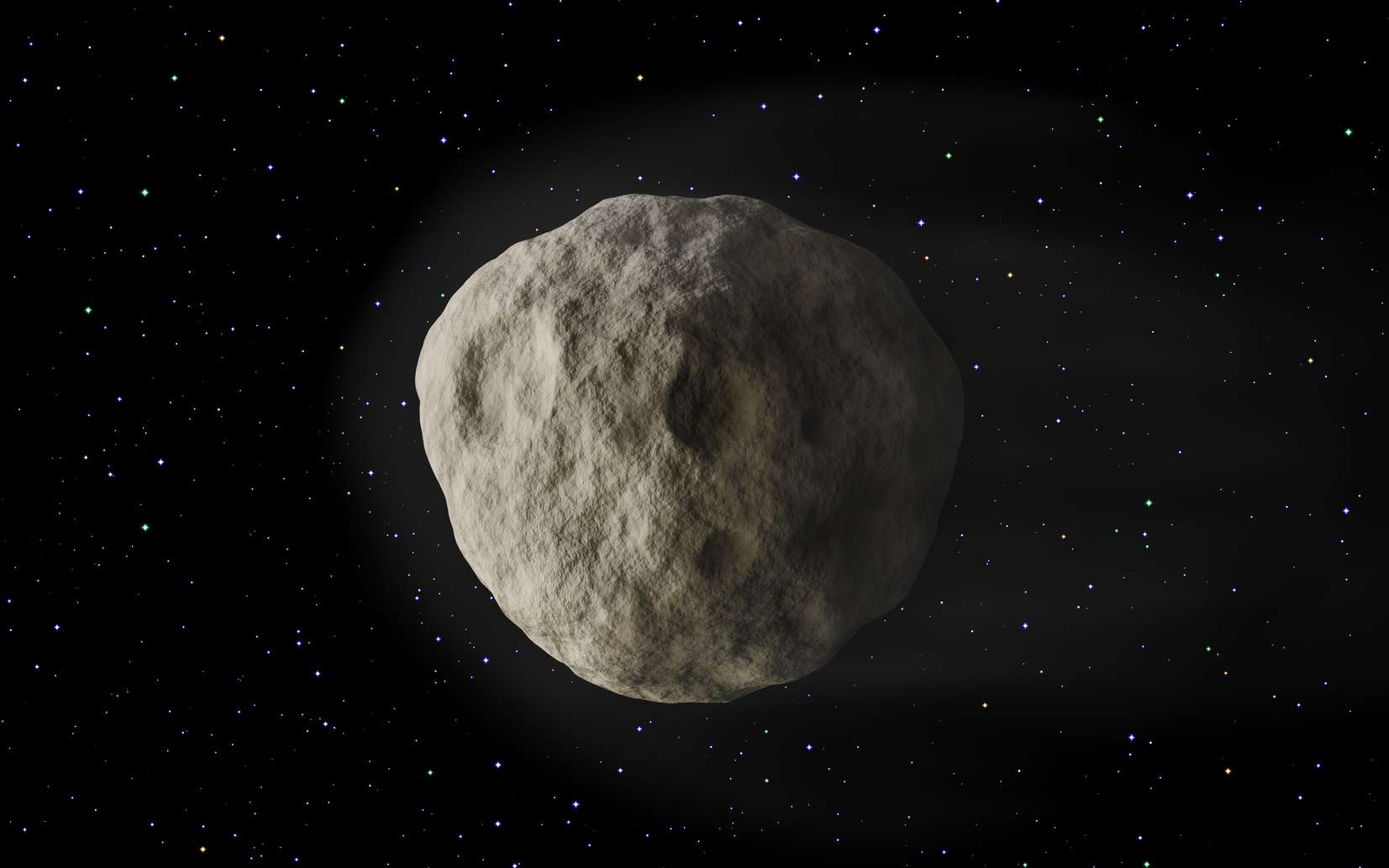 Illustration d'un astéroïde sphérique. © lumedix, fotolia