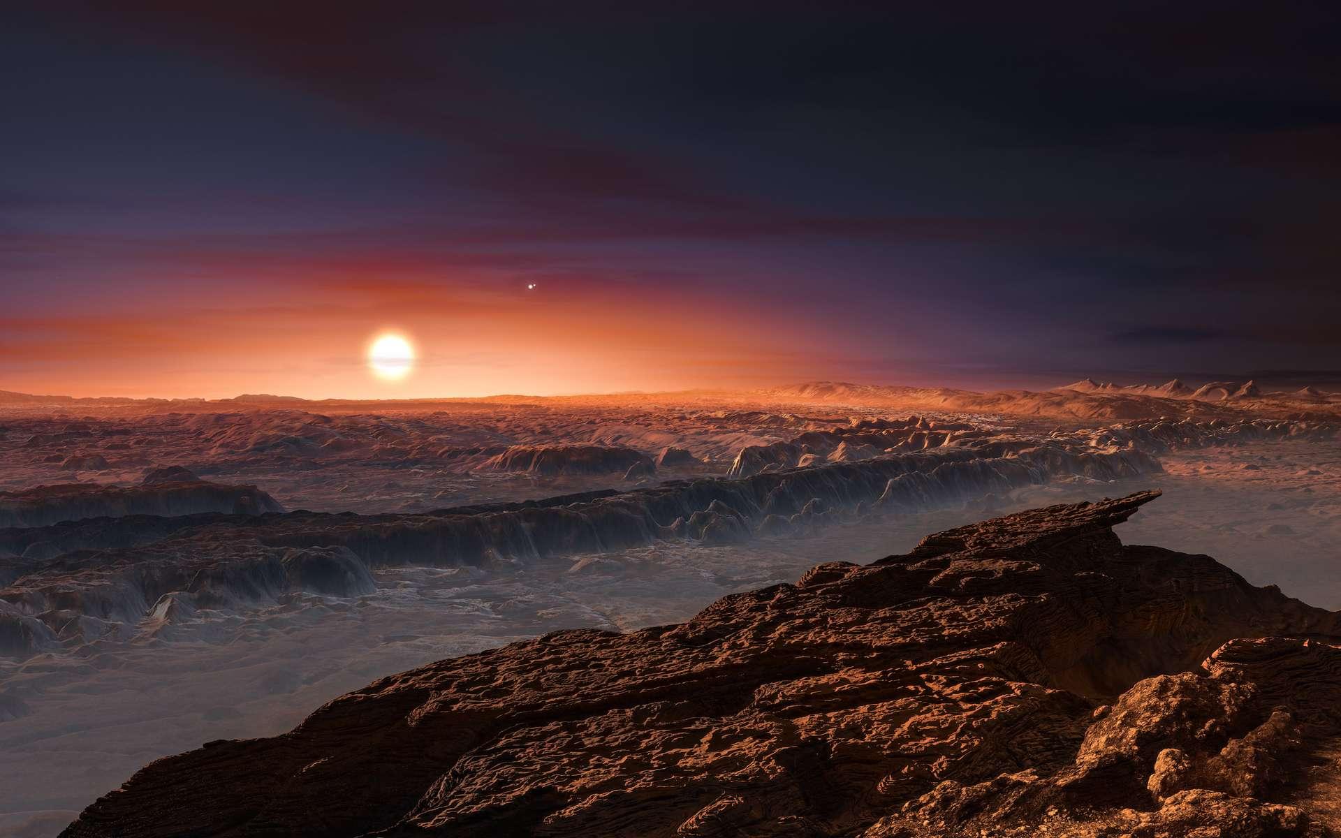 Une vue de Proxima Centauri b. © M. Kornmesser, ESO