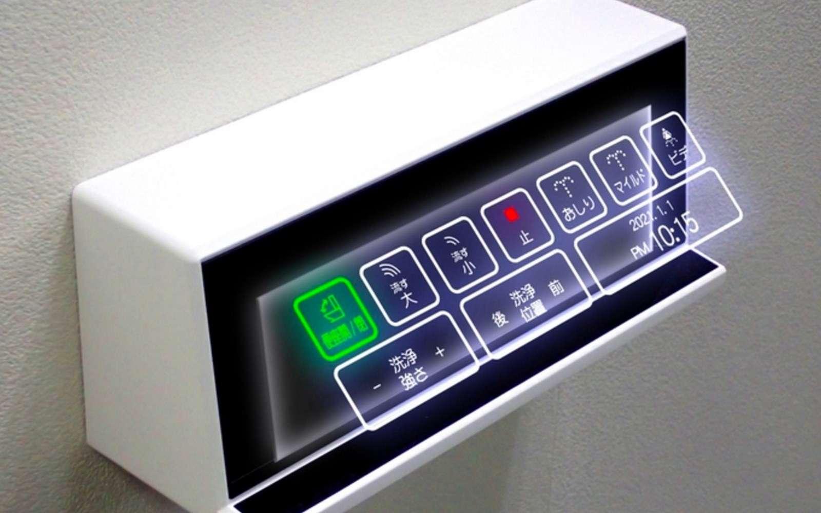 Quand les boutons des toilettes deviennent holographiques - Futura