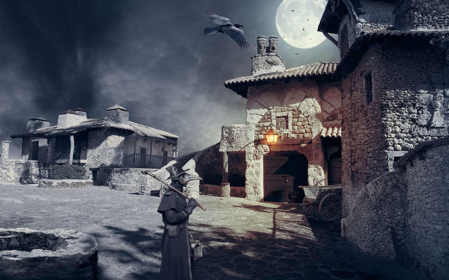La peste noire a décimé près de la moitié de la population en Europe au Moyen Âge. © Viktor, Adobe Stock