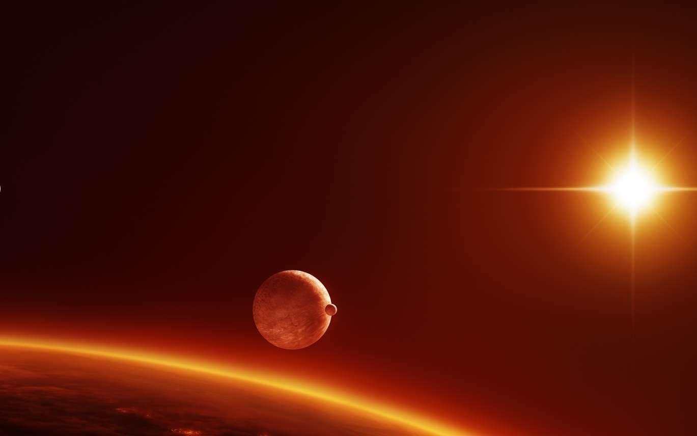Est-ce que Mars serait habitable si elle était à la place de Vénus ? Et vice versa. © Inga Nielsen, fotolia