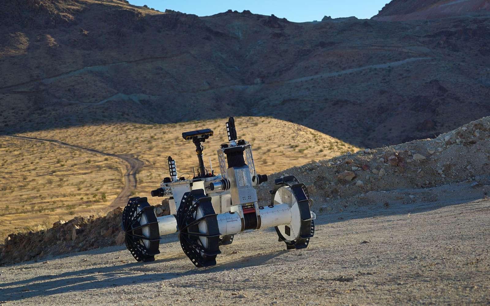 Le rover DuAxel cache en réalité deux segments indépendants. © Nasa, JPL-Caltech, J.D. Gammell