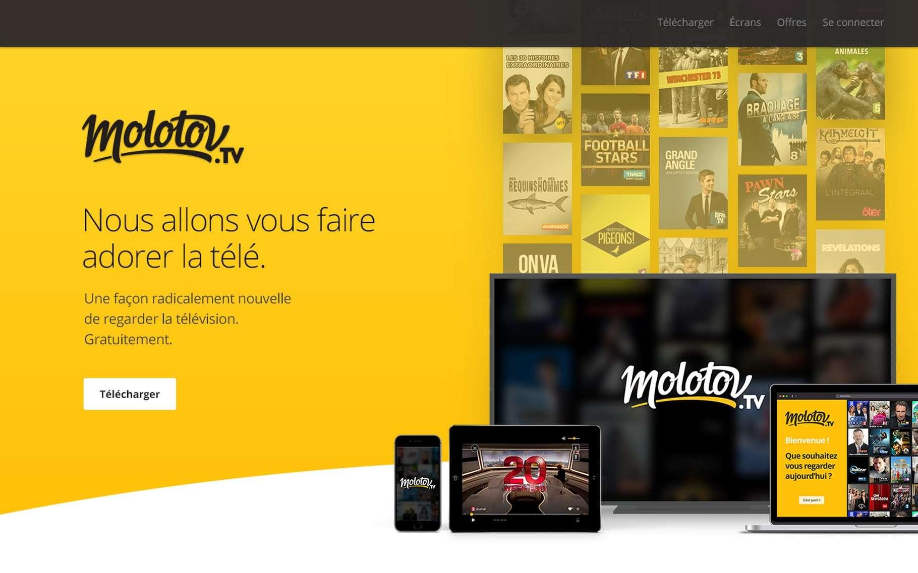 Derrière Molotov TV se trouvent notamment Pierre Lescure, cofondateur de Canal+ et Jean-David Blanc, fondateur d'Allociné. © Molotov