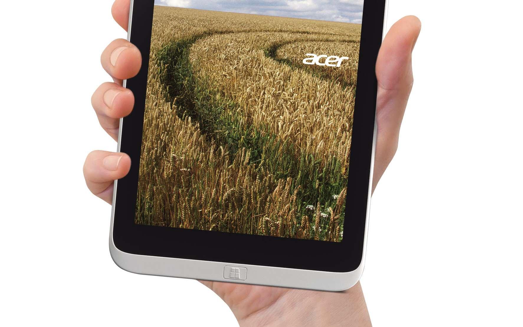 Avec l'Iconia W3, Microsoft entre sur un segment de marché stratégique et en plein essor, où vont se confronter des concurrents déjà bien établis, comme Apple et son iPad mini et les divers modèles sous Android. © Acer