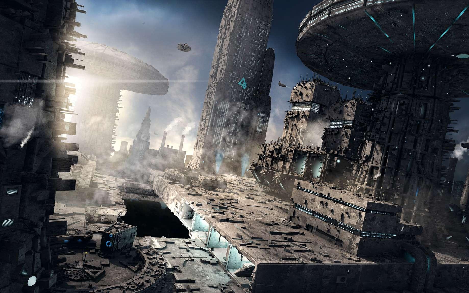 Trantor, la capitale du vieil Empire. Planète recouverte d'acier où toute nature a disparu au profit de bâtiments administratifs. © Ron Wollschläger