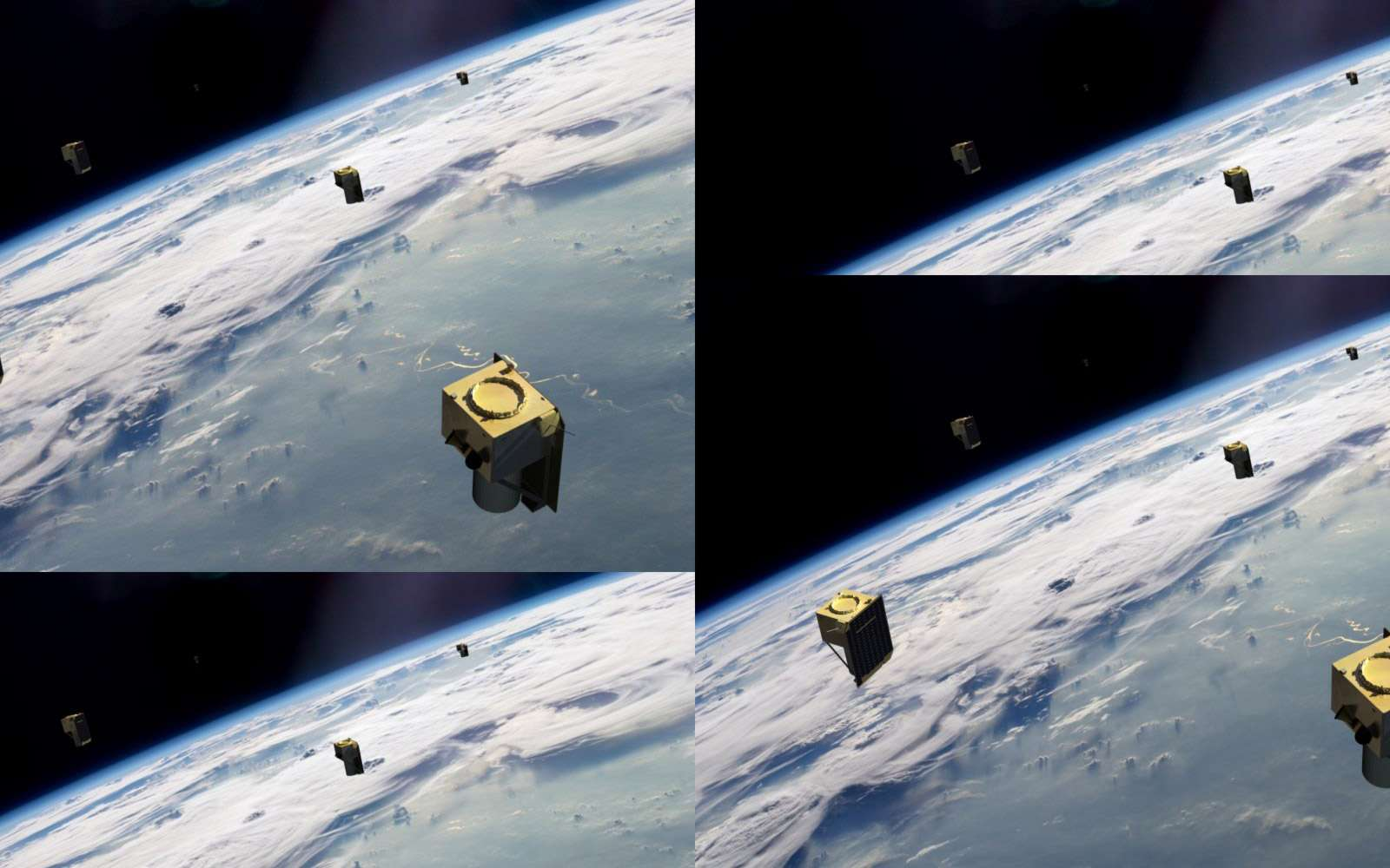 La constellation BlackSky de 60 satellites à très haute revisite temporelle permettra d'ouvrir de nouveaux marchés. © BlackSky