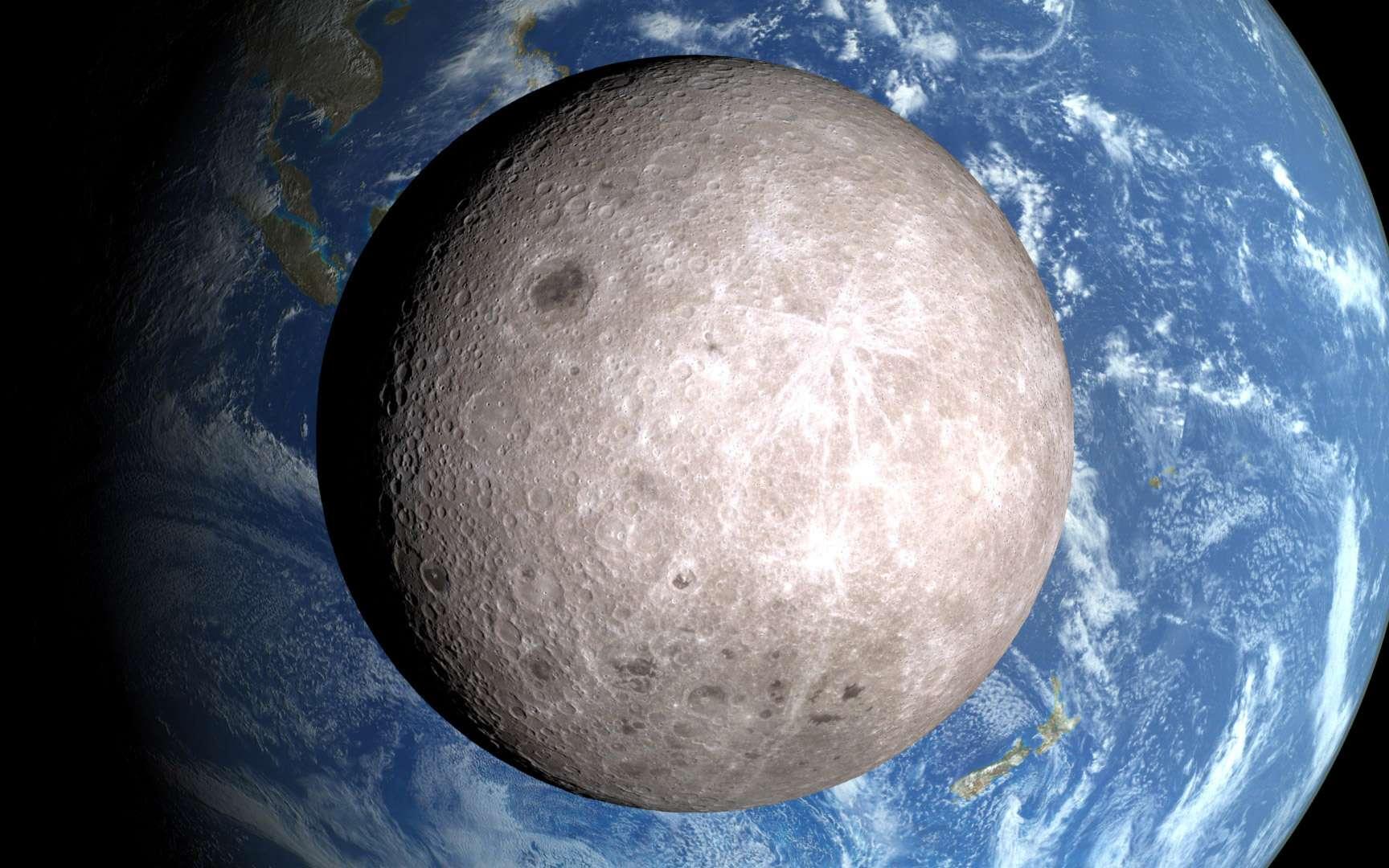La face cachée de la Lune vue depuis la sonde LRO de la Nasa. © Nasa / LRO science team