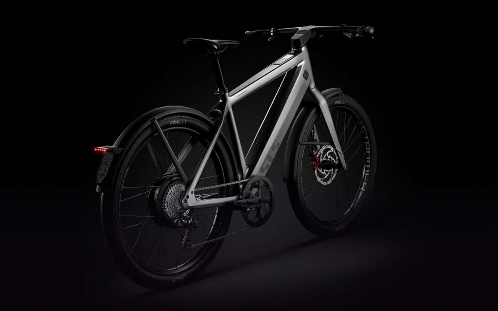 Le Stromer ST5 est un speedelec, un vélo électrique rapide qui peut atteindre les 45 km/h. © Stromer