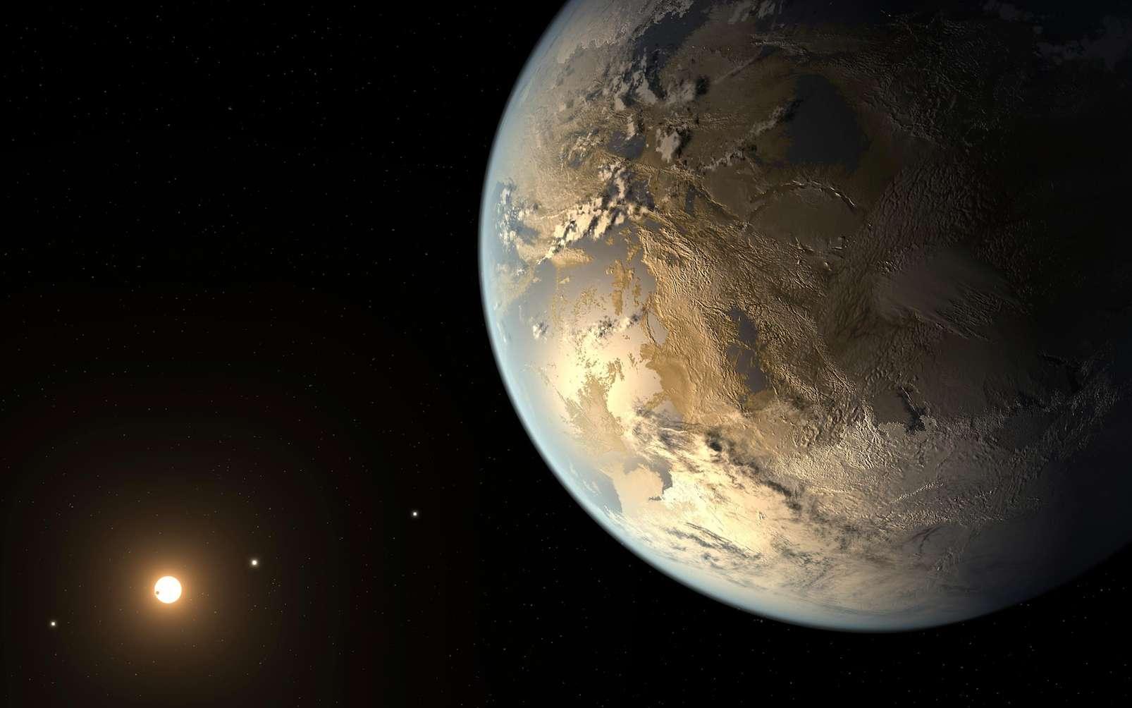Vue d'artiste de Kepler-186f (40 % plus grande que la Terre), la plus célèbre des exoterres découvertes à ce jour. © Nasa, Ames, Seti Institute, JPL-Caltech
