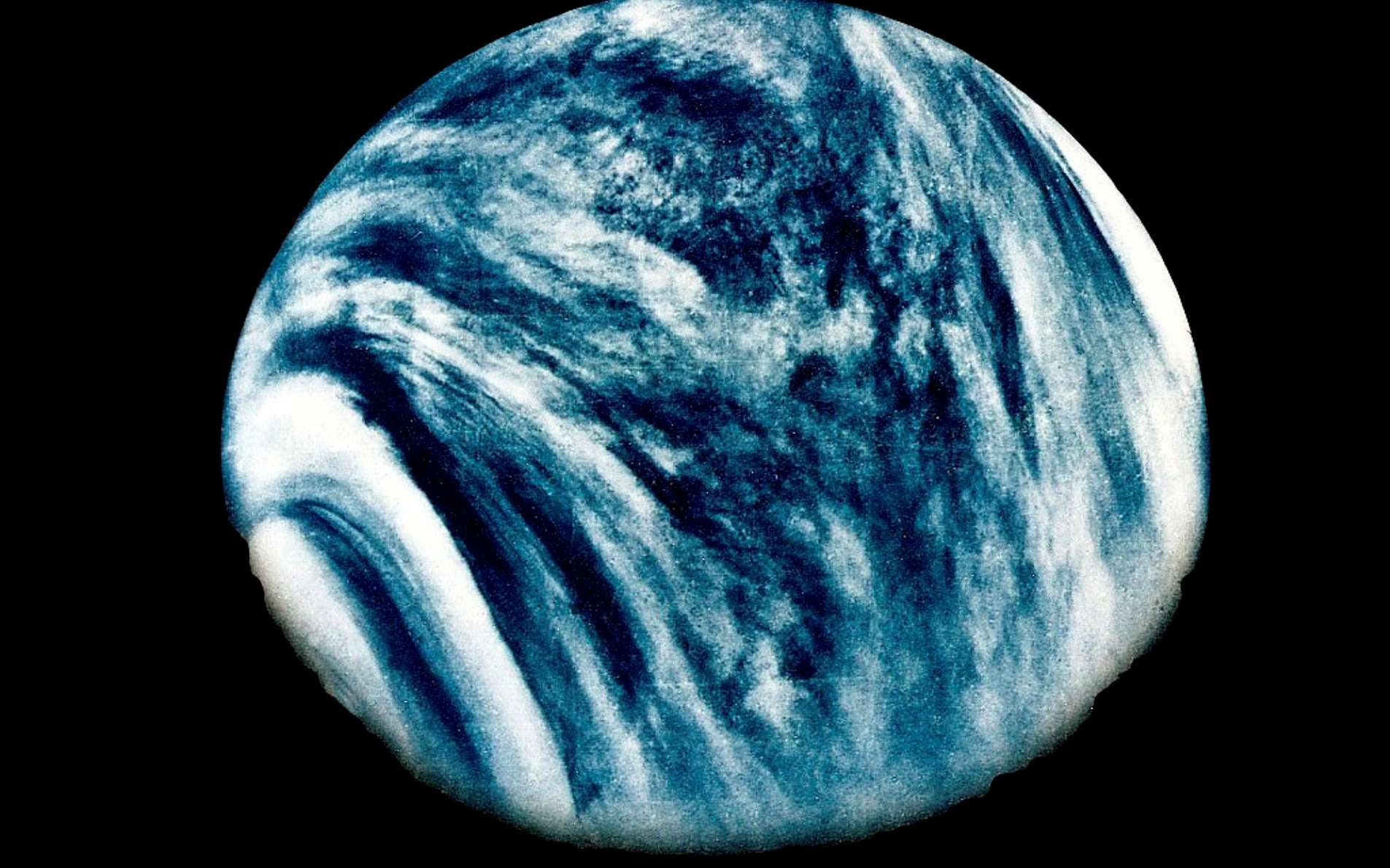 Vénus photographiée le 5 février 1974 par la sonde Mariner 10 de la Nasa. © Nasa