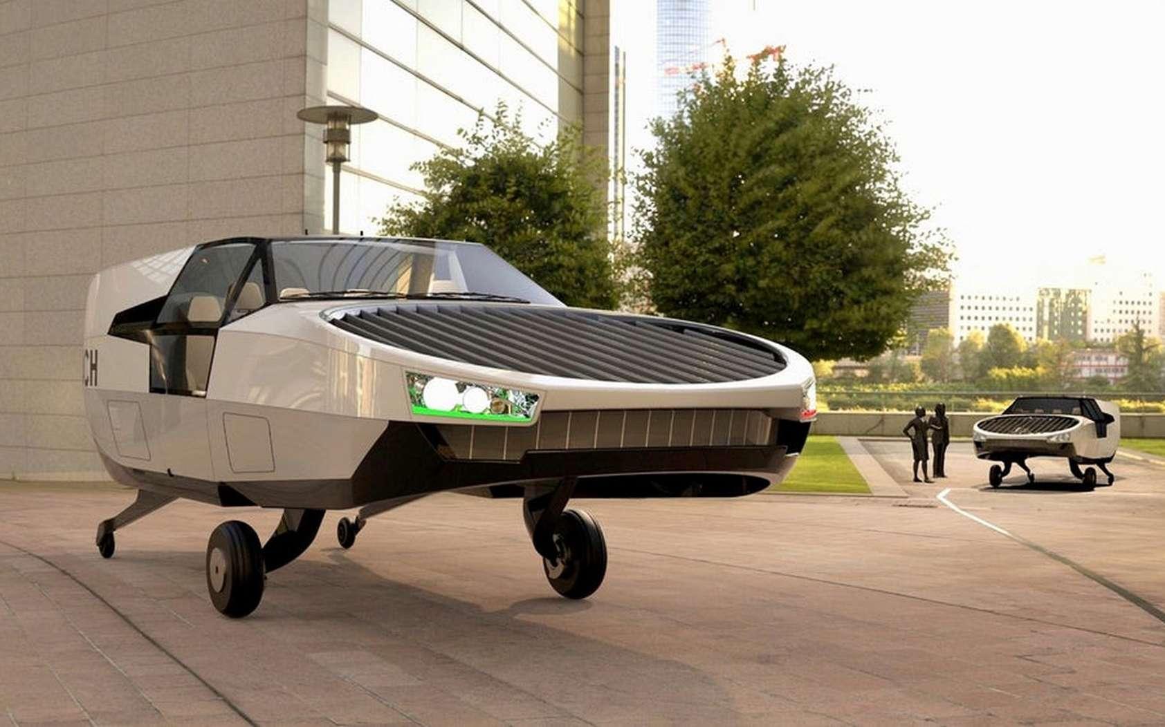 Le taxi volant CityHawk d'Urban Aeronautics est mu par deux rotors contrarotatifs. © Urban Aeronautics