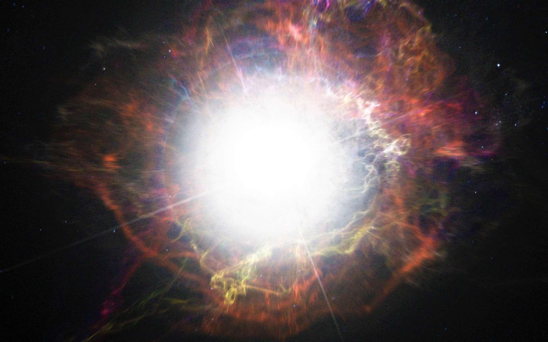 Les supernovae de type Ia apparaissent après l'explosion d'une naine blanche. Une naine blanche relativement massive, pensaient les chercheurs. Mais il apparaît aujourd'hui que les premières d'entre elles ont pu exploser alors même qu'elles étaient relativement petites. © ESO/M. Kornmesser