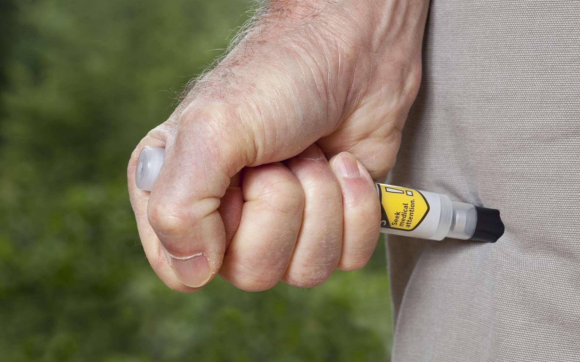 Pour traiter en urgence le choc anaphylactique : le stylo injecteur d'adrénaline. © David Smart, Shutterstock