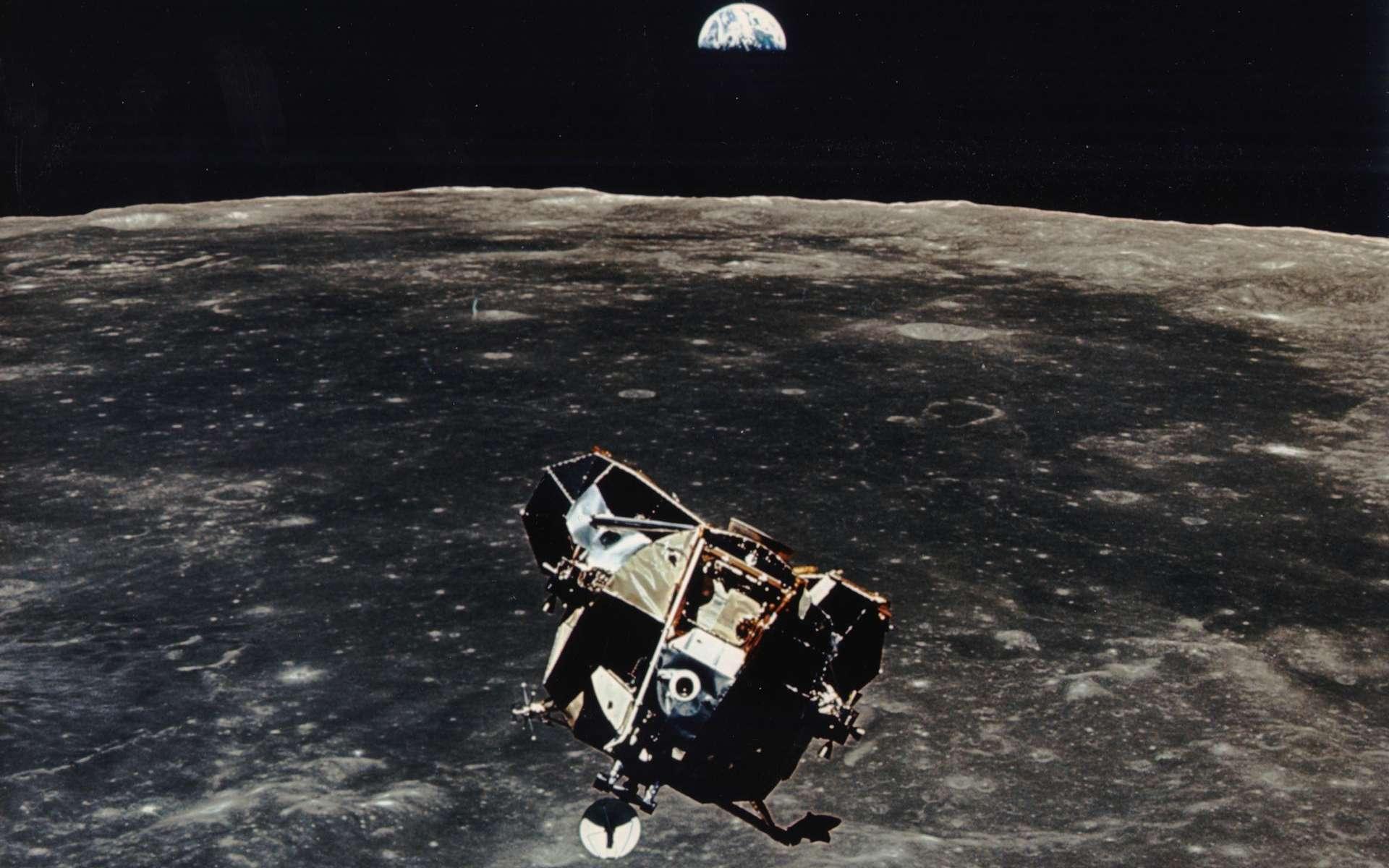 Le module lunaire d'Apollo 11 après la séparation. © Nasa