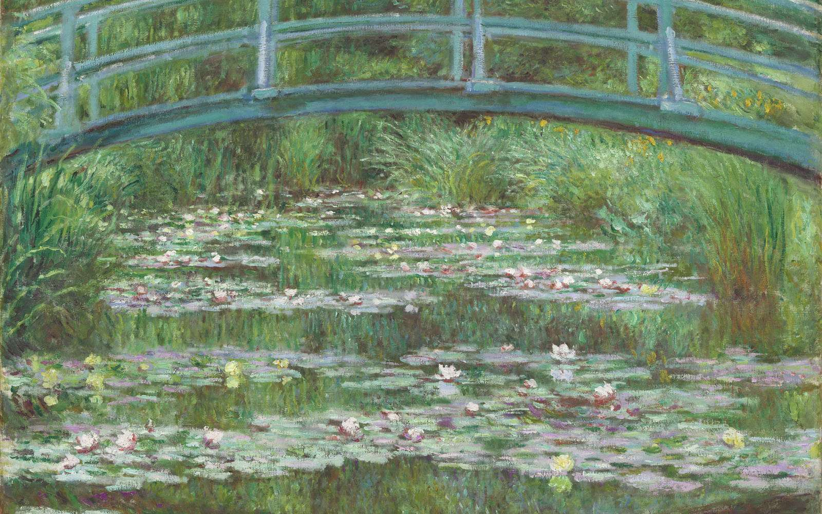 Huile sur toile de Claude Monet, Le bassin aux nymphéas ou La passerelle japonaise, 1899. © Courtesy National Gallery of Art de Washington, DP