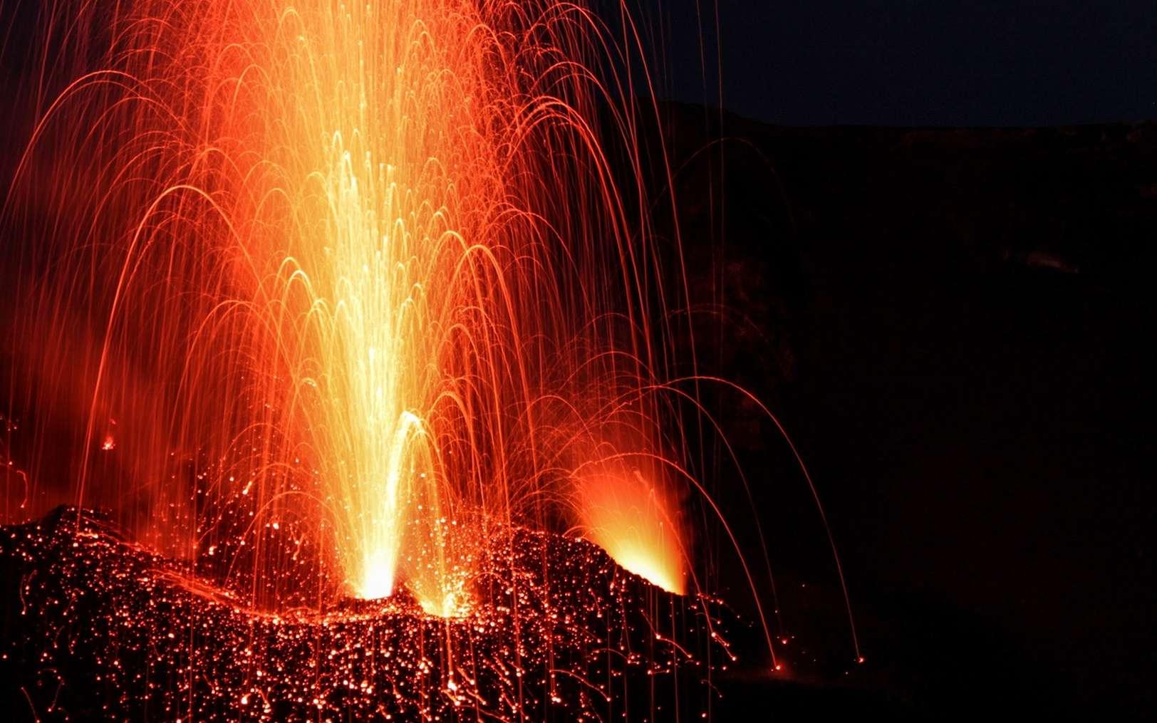 Une éruption sur le Stromboli. © Fotolia, Dan
