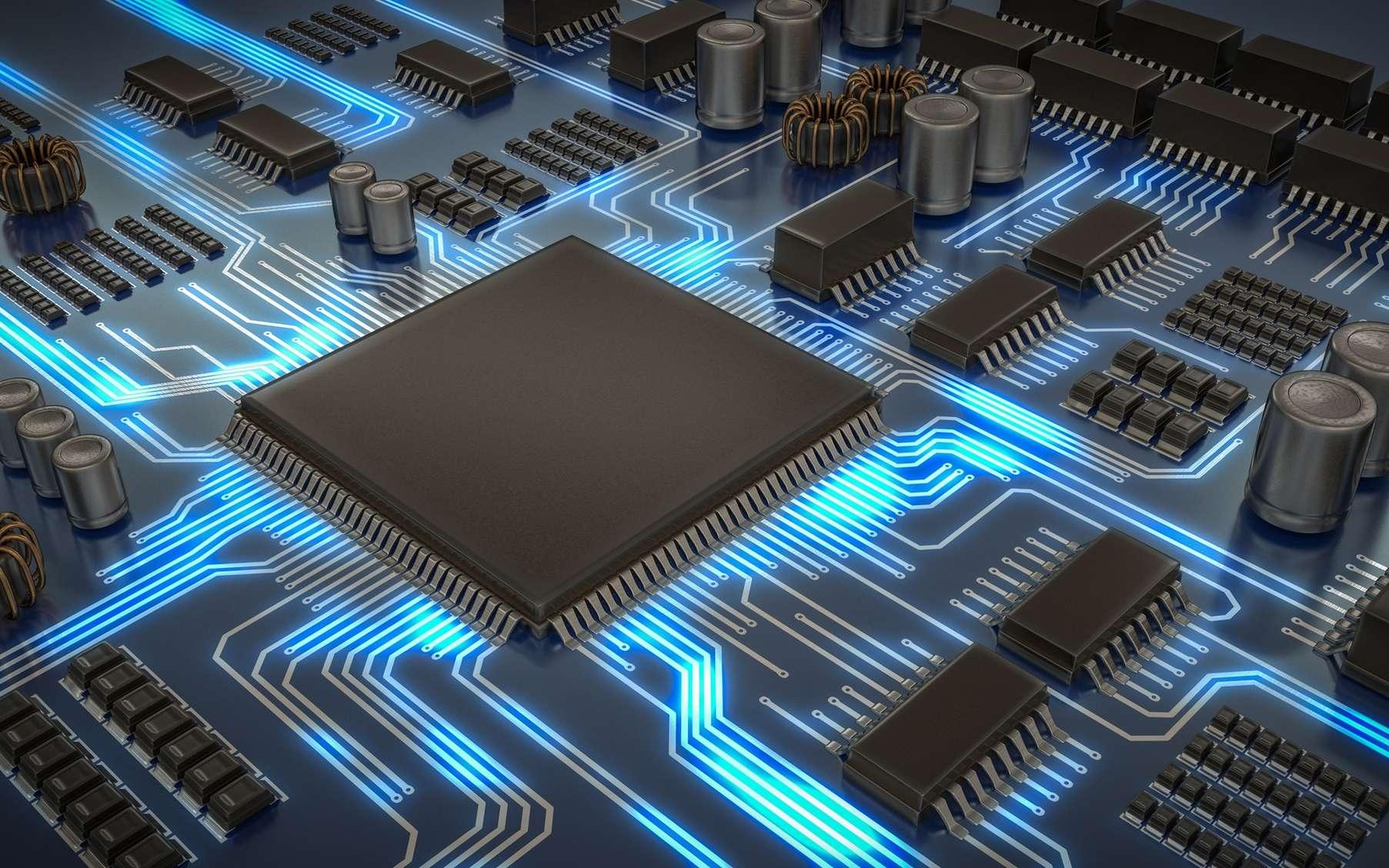 Le processeur est au cœur de l'unité centrale, il en est le centre nerveux. C'est lui qui anime votre ordinateur et effectue les opérations. © vchalup, fotolia