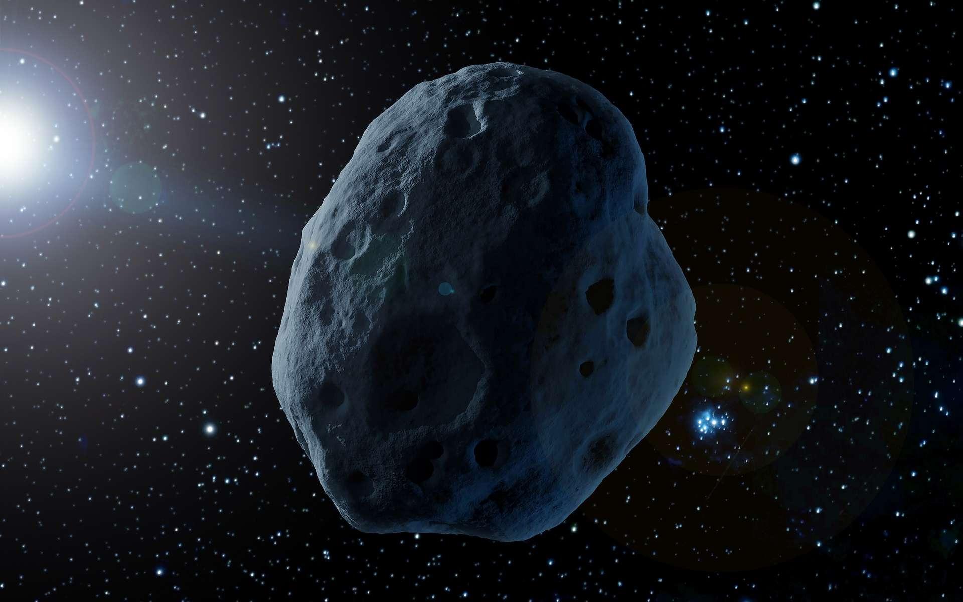 Illustration d'un astéroïde potentiellement dangereux. © Artsiom P, Adobe Stock