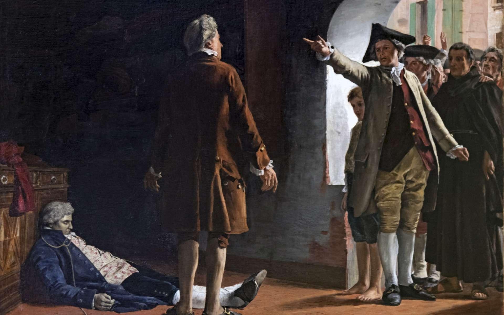 L'arrestation de Calas. © Peinture de Casimir Destrem, Musée du Vieux Toulouse, Wikimedia Commons, Domaine public