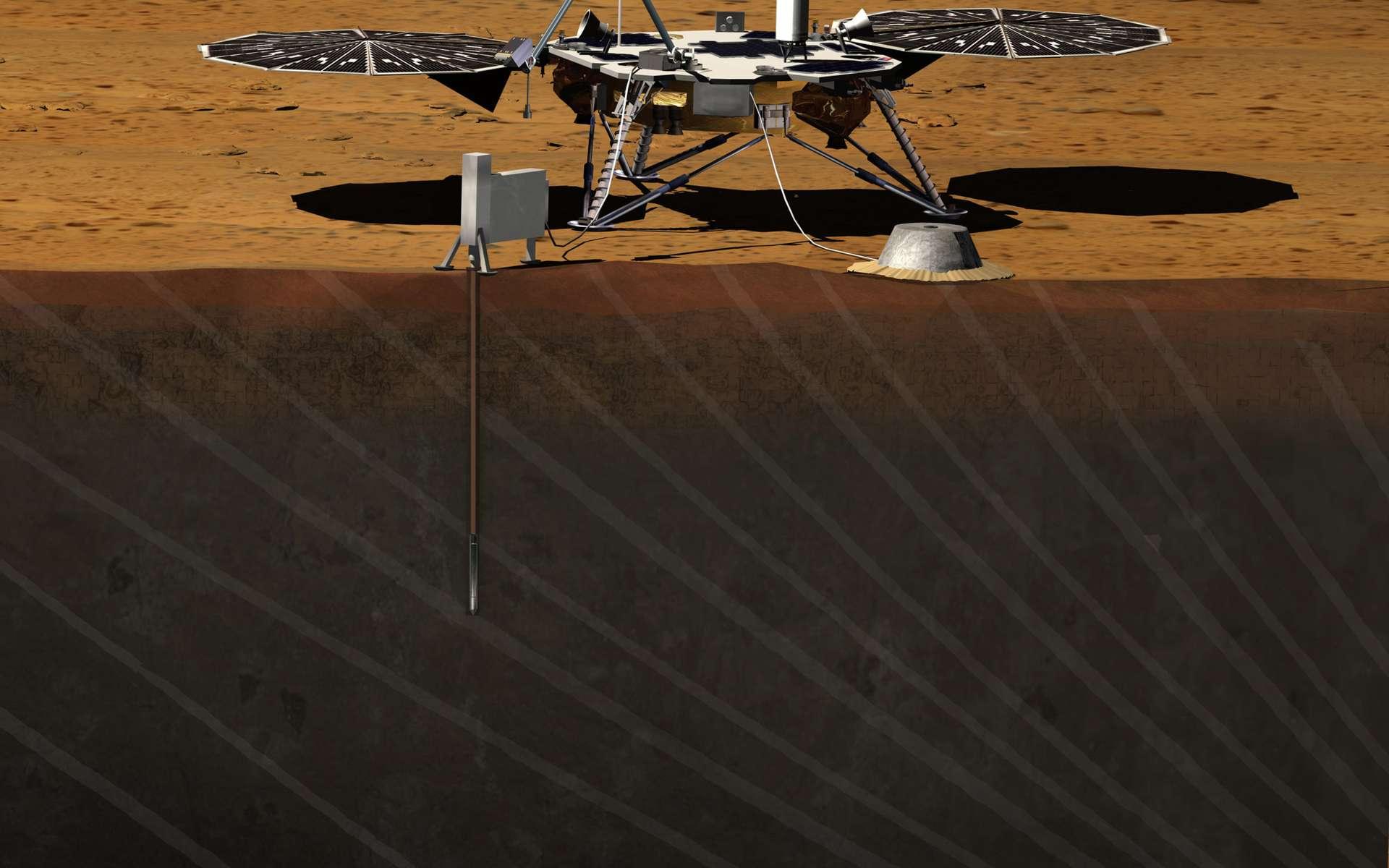 Pour sa prochaine mission sur la surface martienne, la Nasa opte pour un lander. Insight, c'est son nom, explorera le sous-sol de Mars d'une façon qui n'a encore jamais été faite. Premières données attendues en septembre-octobre 2016. © Nasa/JPL-Caltech