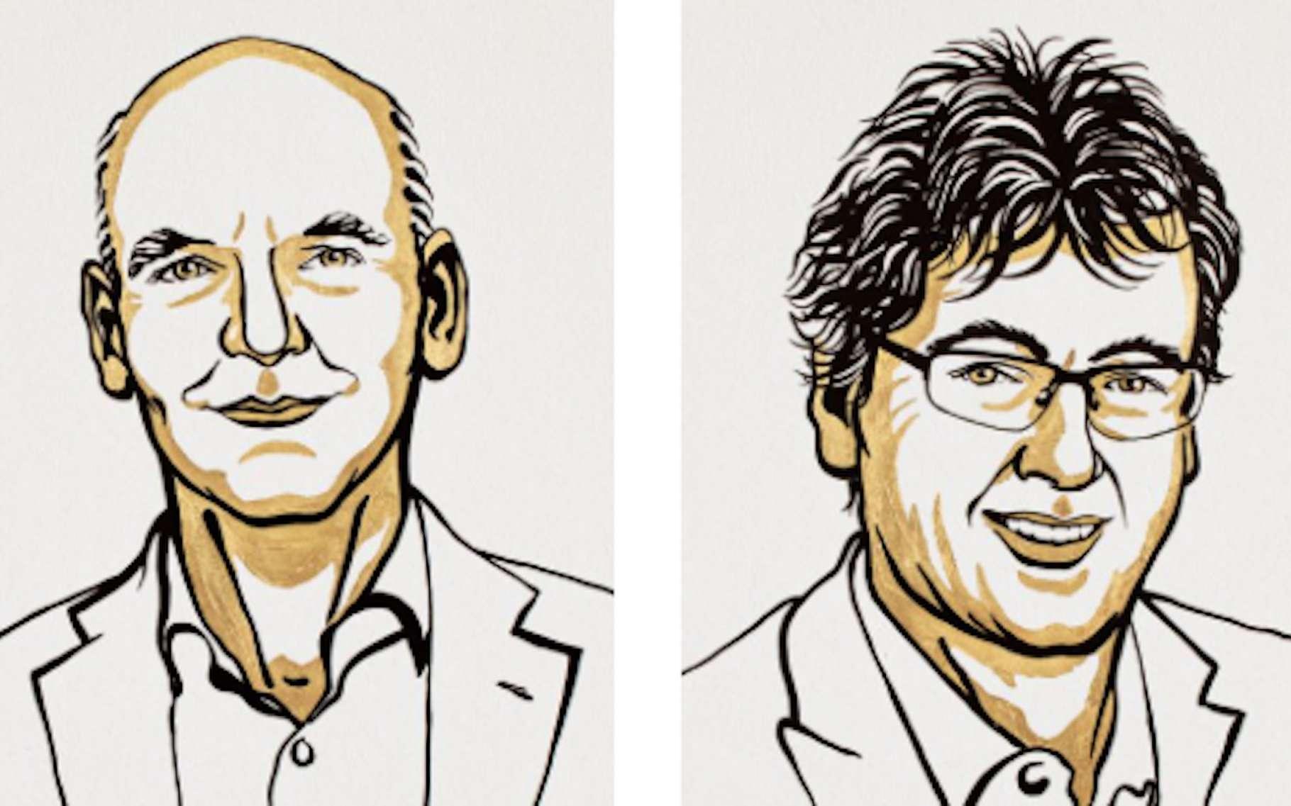 Le prix Nobel de chimie 2021 récompense Benjamin List (Allemagne) et David Mac Millan (États-Unis) pour le développement de l'organocatalyse asymétrique, un outil clé de la chimie verte. © Niklas Elmehed, Nobel Prize Outreach
