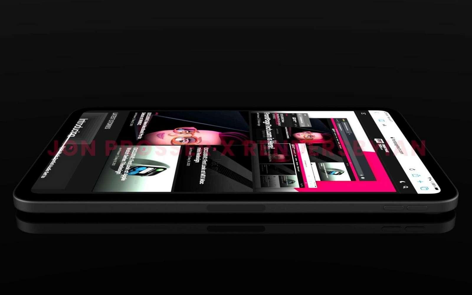 Un rendu de ce à quoi pourrait ressembler le nouvel iPad mini 6. © Jon Prosser x Rendersbyian