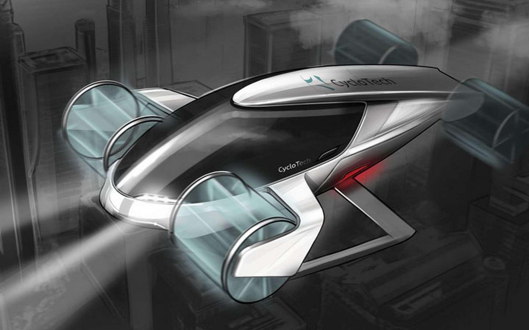 Ce taxi volant imaginé par CycloTech verra-t-il le jour ? © CycloTech