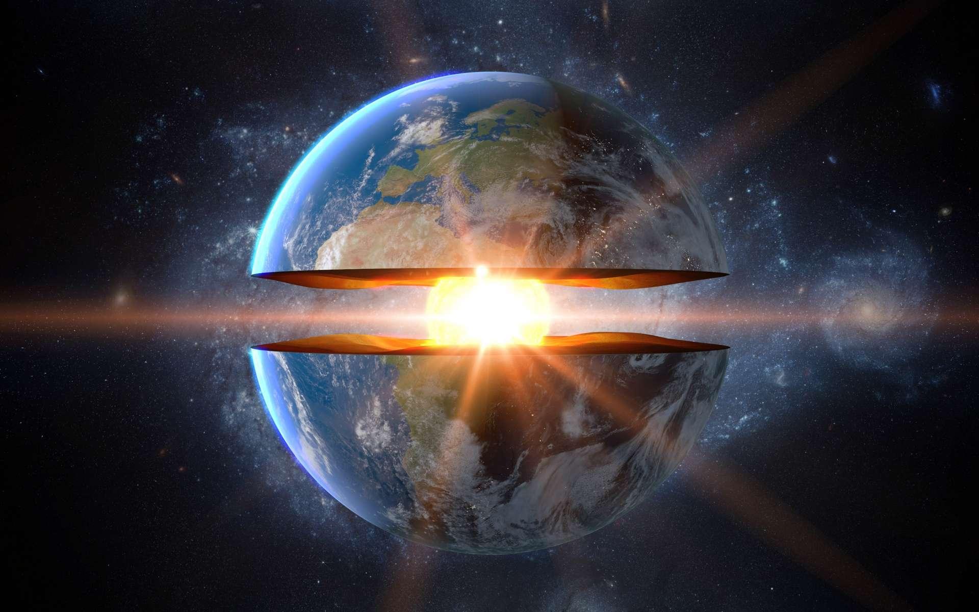 Comprendre la structure interne de la Terre grâce aux ondes sismiques. © 3D motion, Adobe Stock