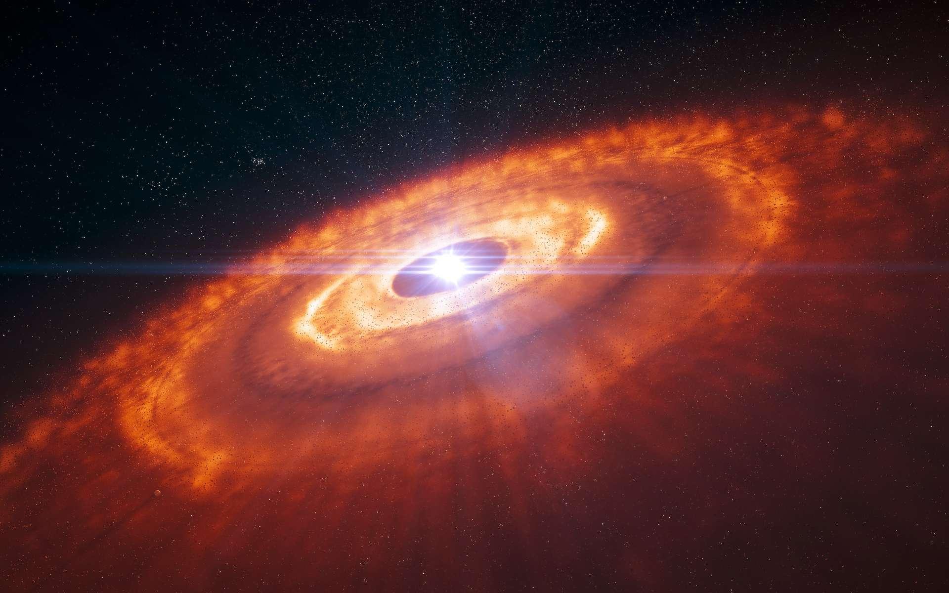 Selon de nouveaux travaux menés par des chercheurs du Lawrence Livermore National Laboratory (États-Unis), il n'a fallu que 200.000 ans à notre Système solaire pour se former. © ESO, L. Calçada