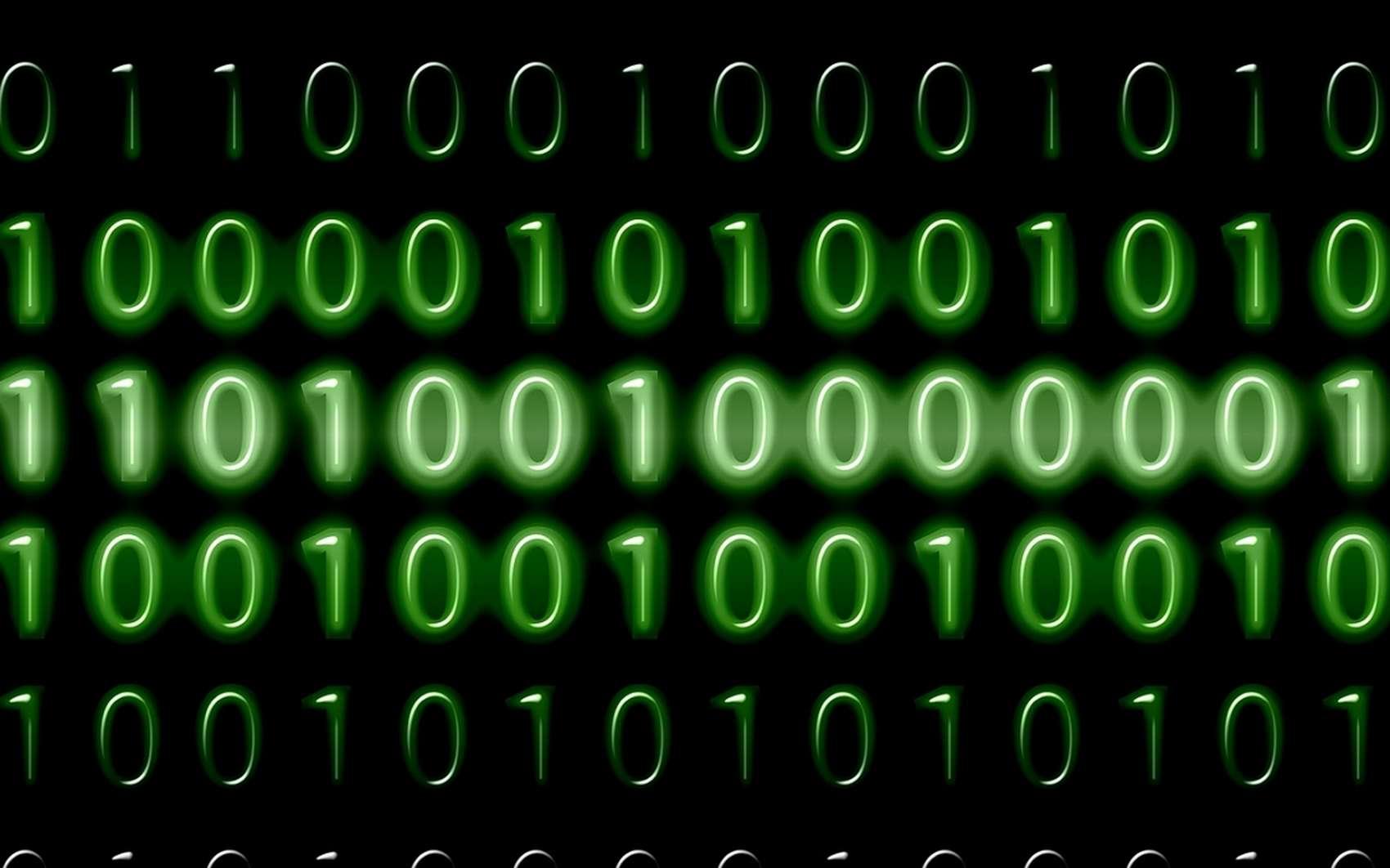 Le code binaire ne comporte que des 0 et des 1. © Pixabay.com