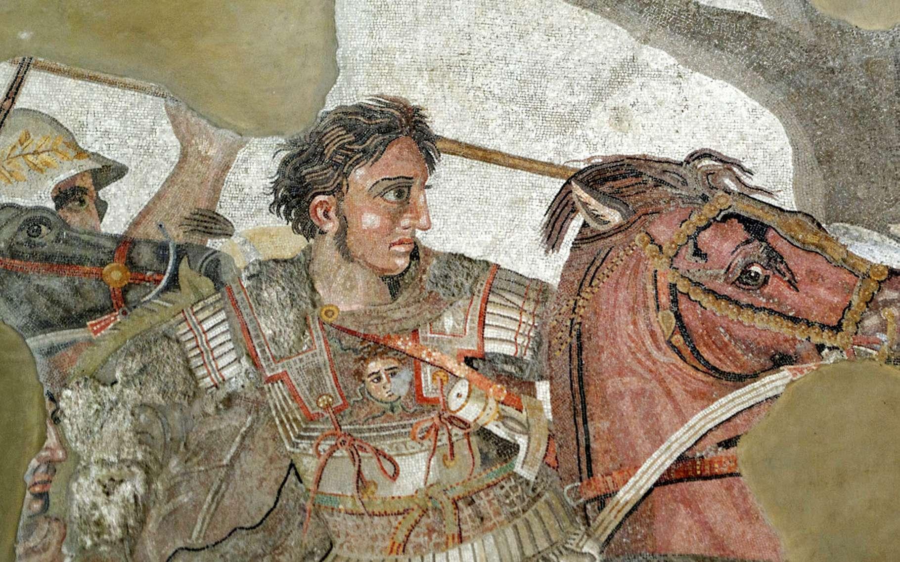 Détail de la mosaïque d'Alexandre le Grand, Musée archéologique de Naples. © Wikimedia commons, DP