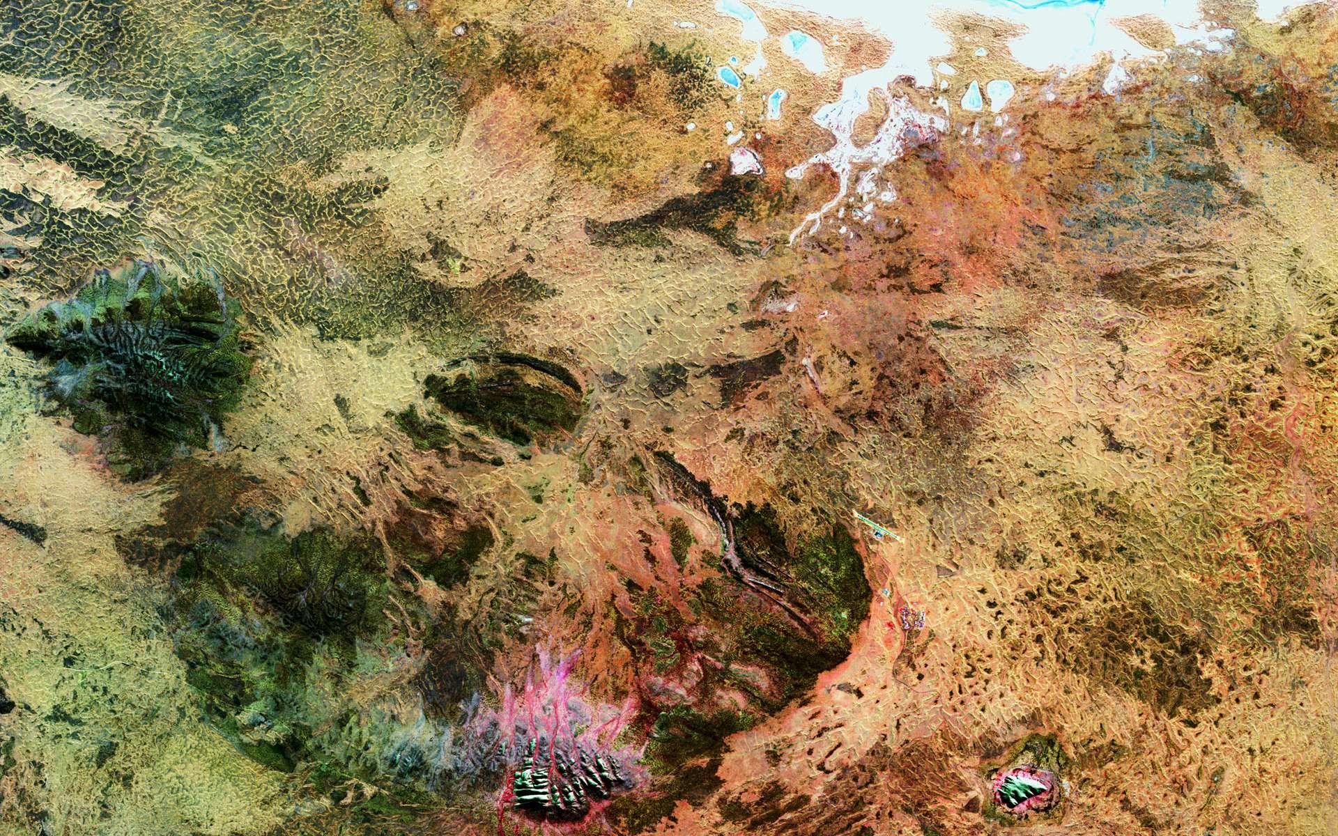 Les lieux sacrés aborigènes sous la caméra du satellite Landsat 5. © USGS