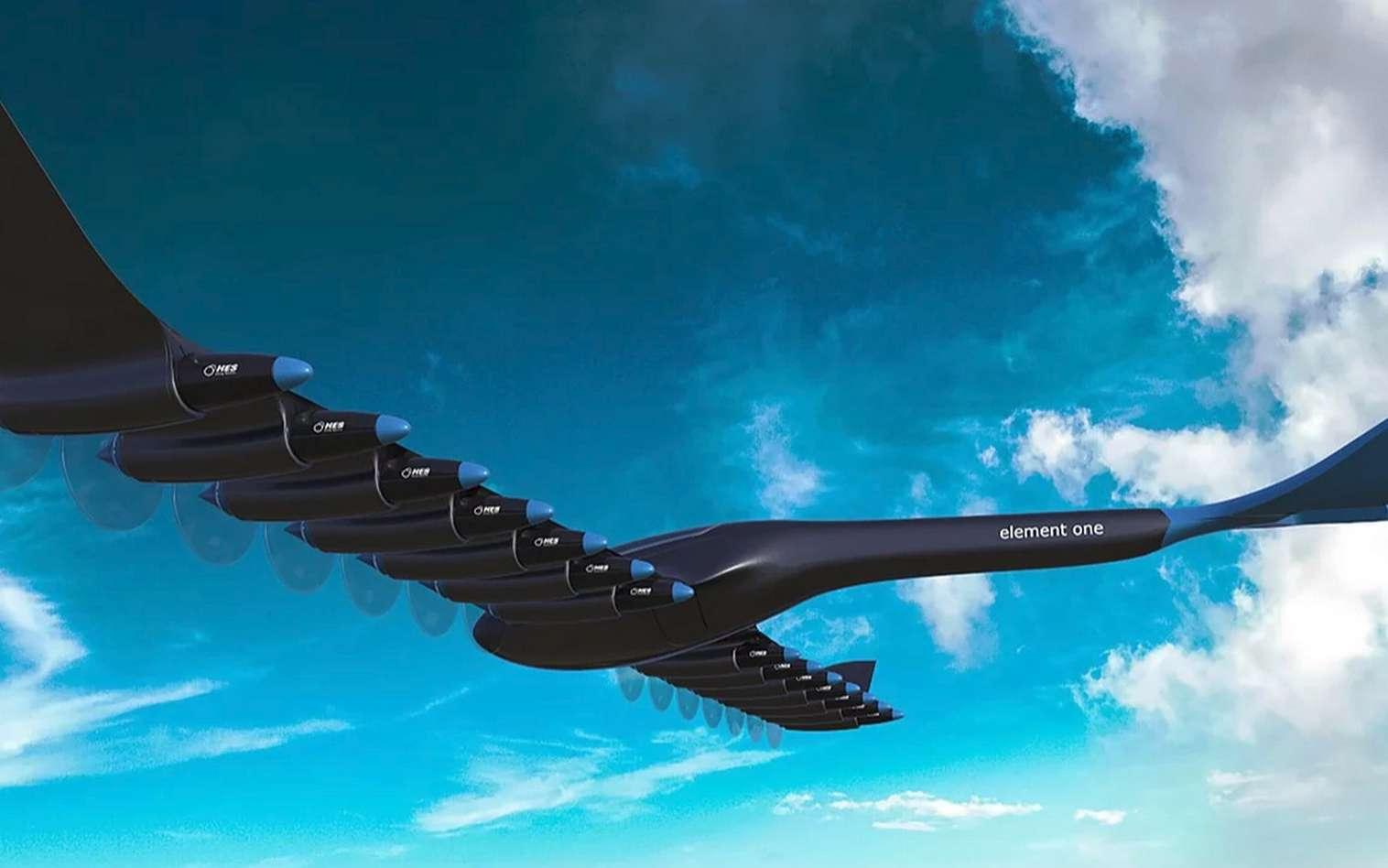 Voilà à quoi devrait ressembler l'avion électrique à hydrogène Element One. © HES Energy Systems