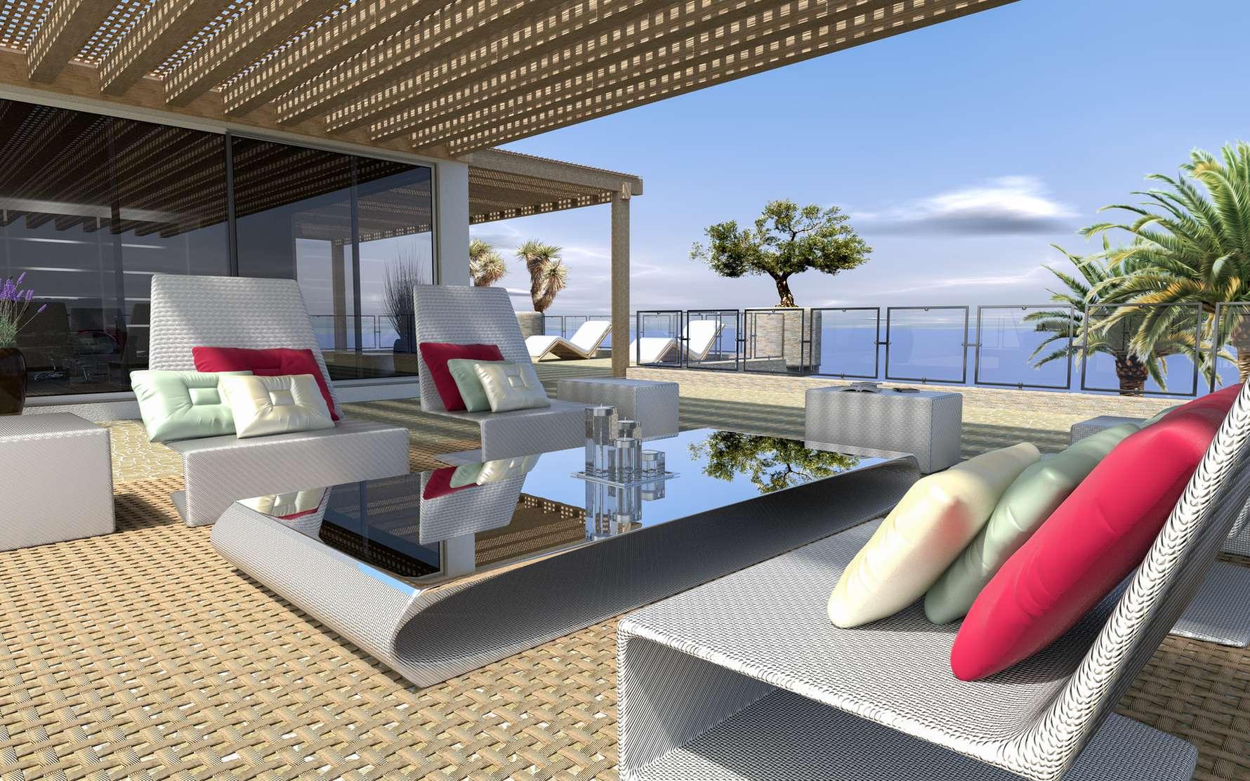 Du mobilier de terrasse confortable et facile d'entretien. © Associated Fabrication, Flickr, CC BY 2.0