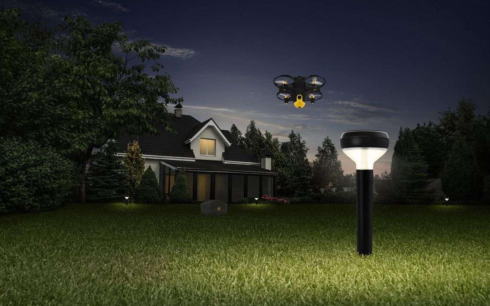 Le système de surveillance par drone de Sunflower Labs. © Sunflower Labs