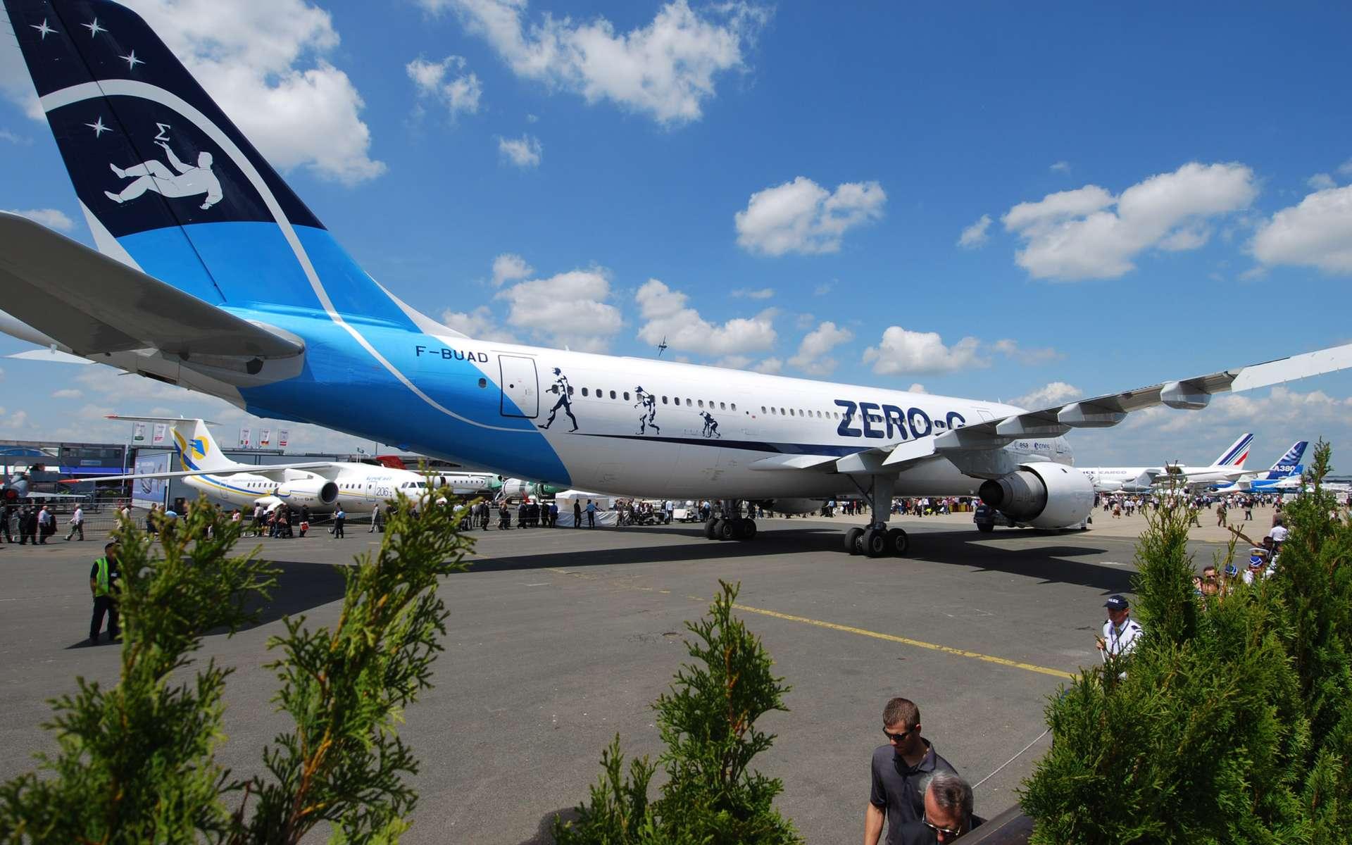 L'Airbus A300 Zéro-G, ici présenté au salon du Bourget en 2009, sera vraisemblablement remplacé fin 2014 par un un autre Airbus. © R. Decourt