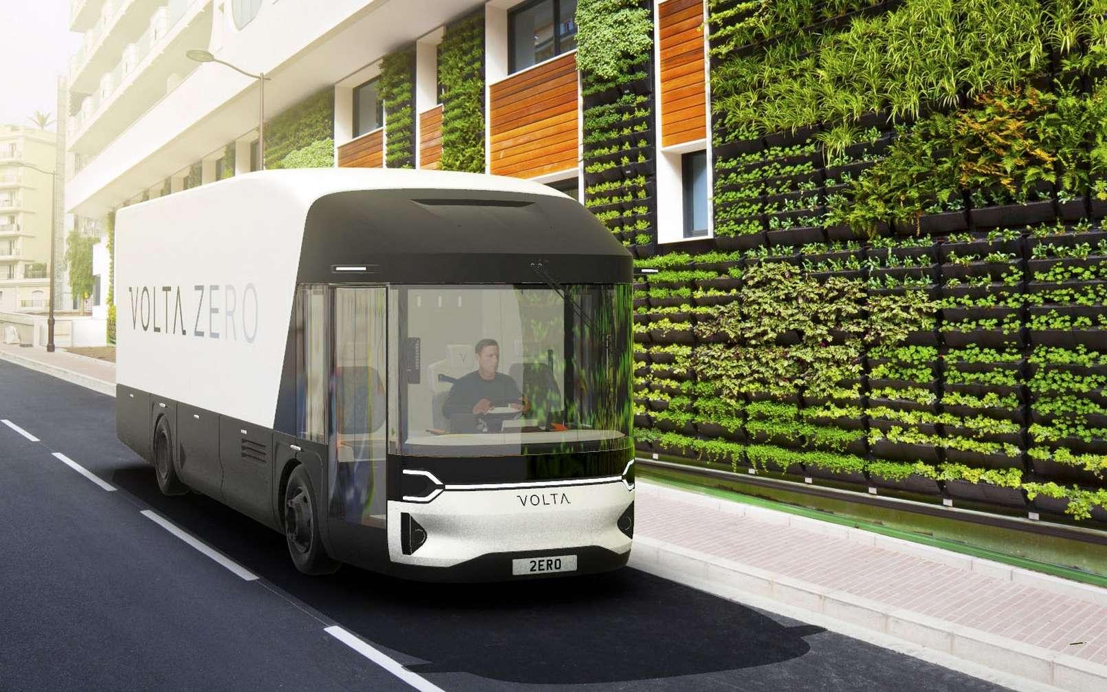Le camion électrique Volta Zero et sa cabine très ouverte. © Volta Trucks